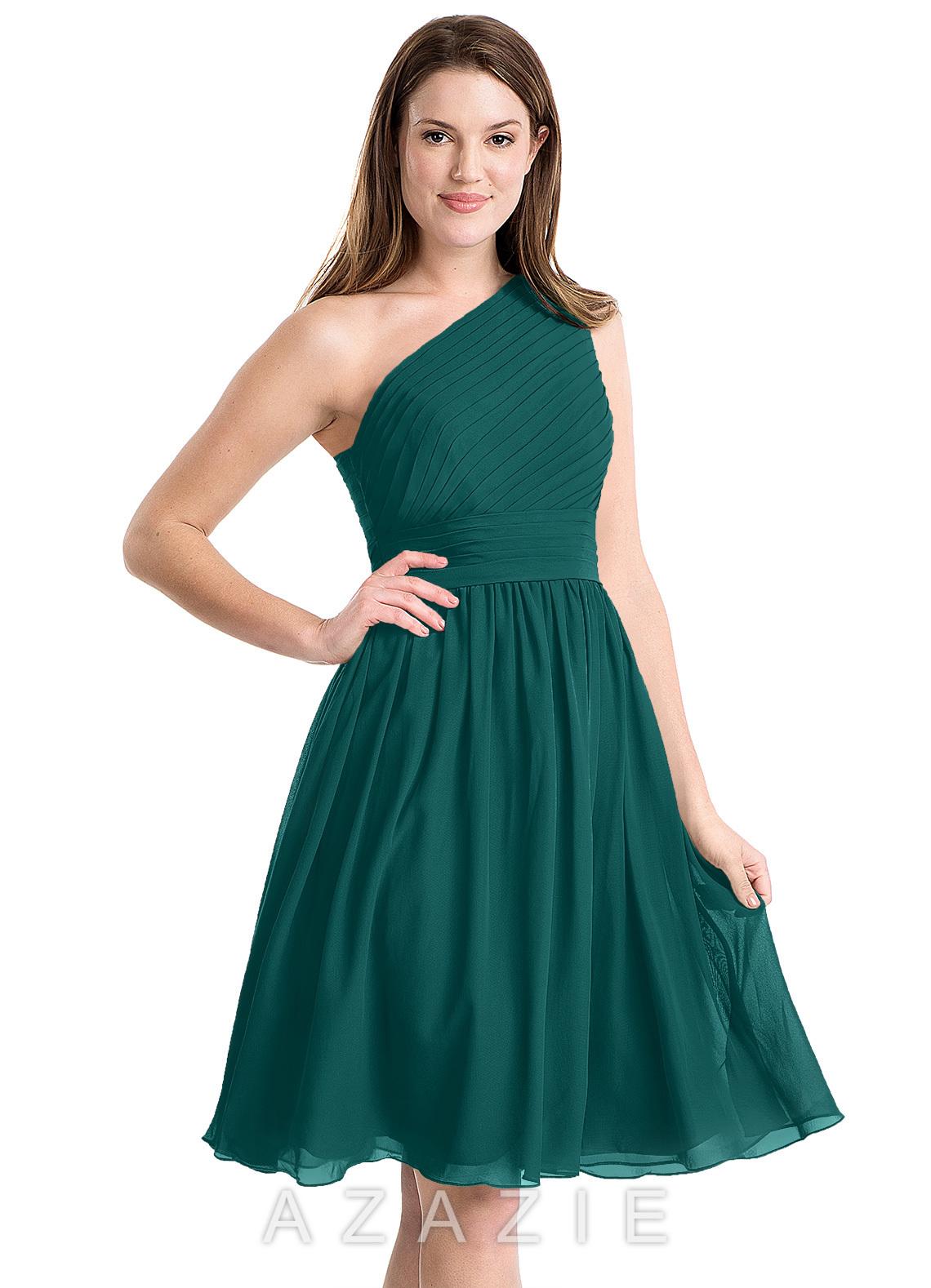 bb220a8e871 Azazie Katrina Bridesmaid Dress - Peacock