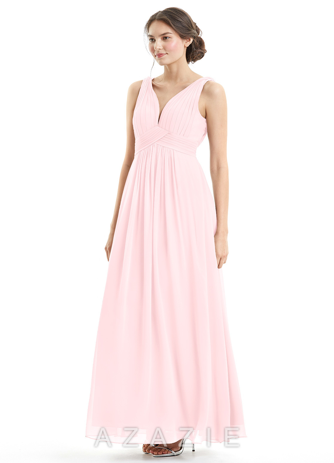 dc6b124eab50 Azazie Hillary Bridesmaid Dress - Blushing Pink | Azazie