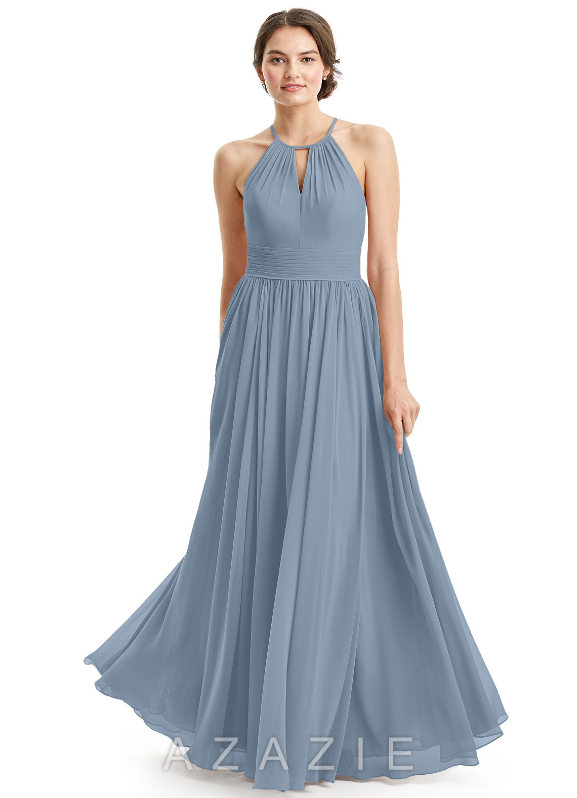 5de32211698 Azazie Cherish Bridesmaid Dress - Dusty Blue