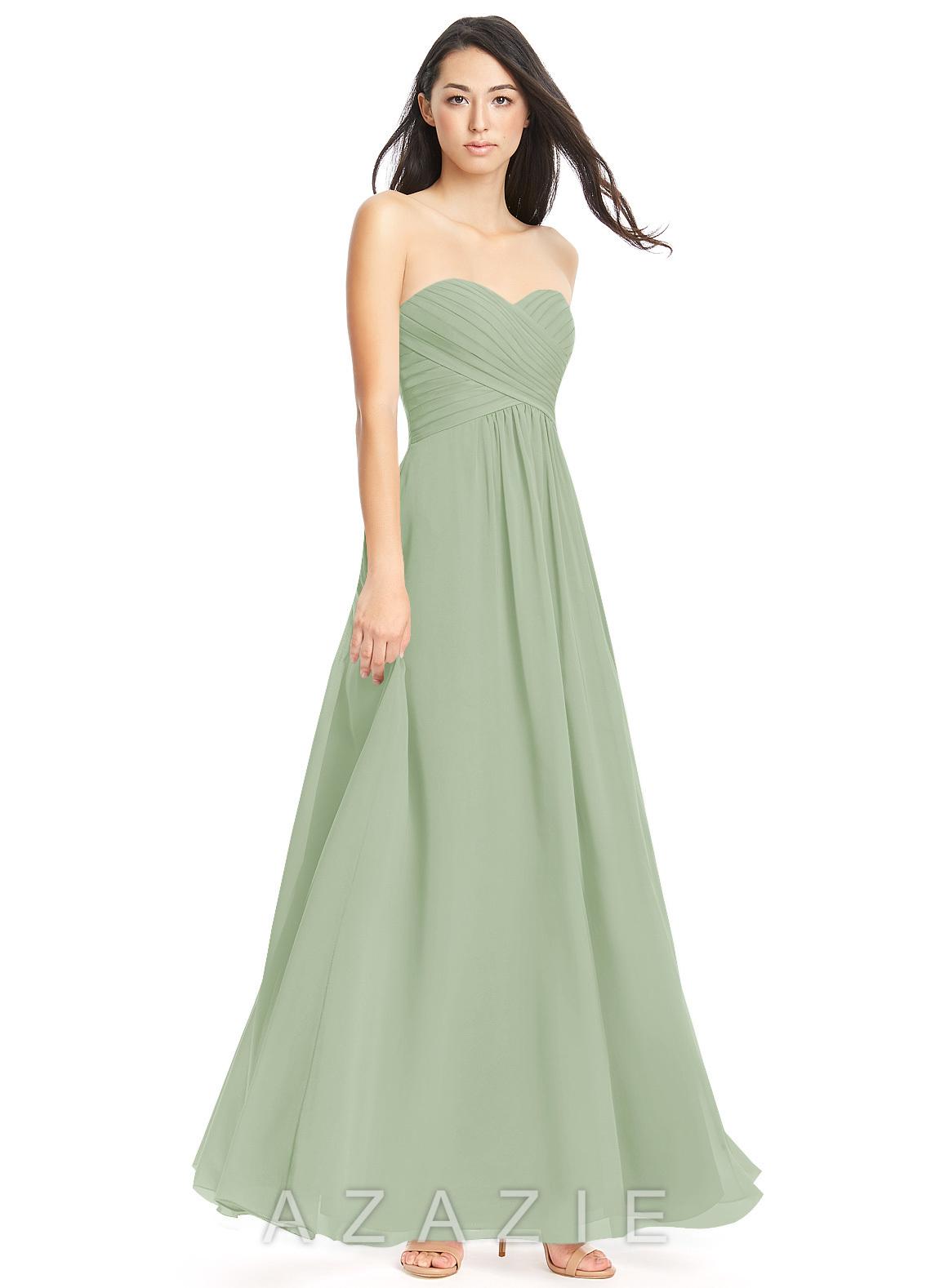 abc3923e23f Azazie Yazmin Bridesmaid Dress - Dusty Sage