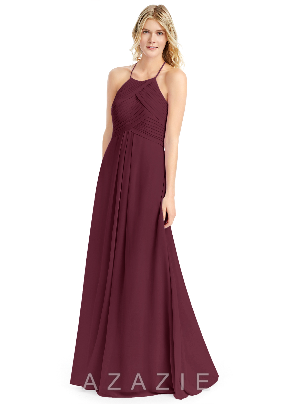 b8cef3620c6 Azazie Ginger Evening Dress - Cabernet