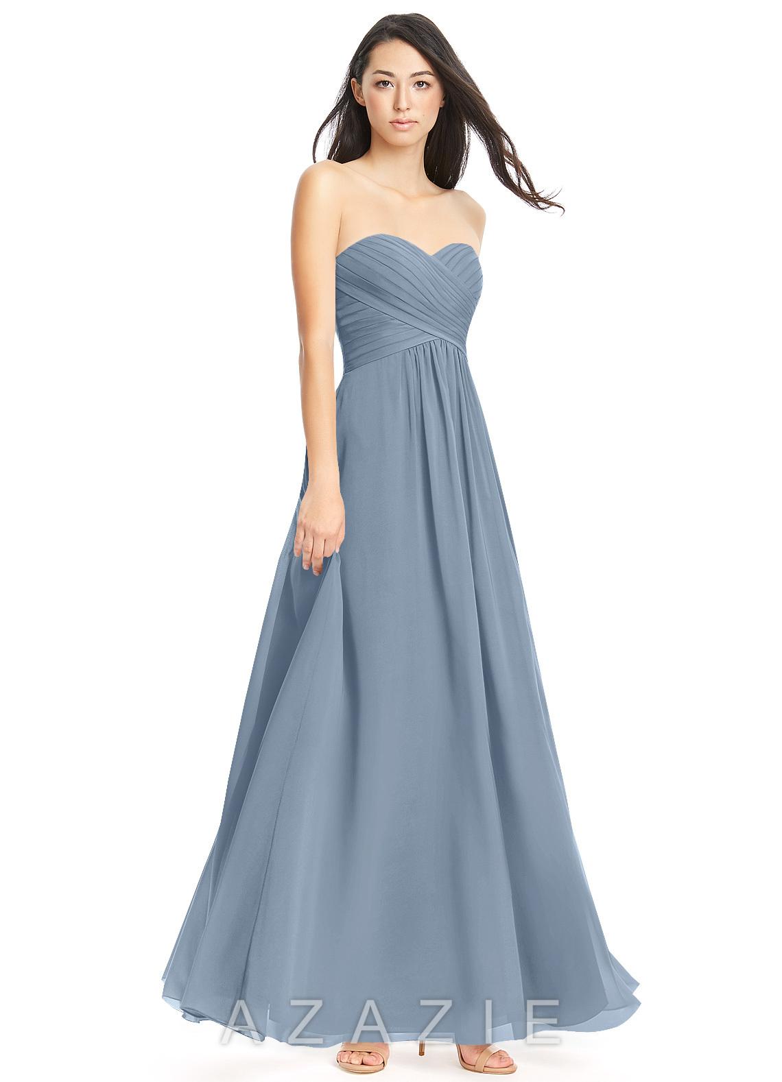 061239c7ad8 Azazie Yazmin Bridesmaid Dress - Dusty Blue