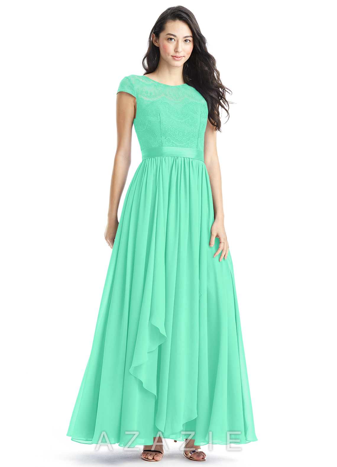 1af8e23a349 Azazie Beatrice Bridesmaid Dress - Turquoise