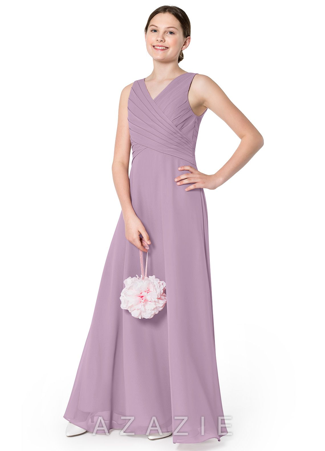 c6591a6a349 Azazie Flora JBD Junior Bridesmaid Dress