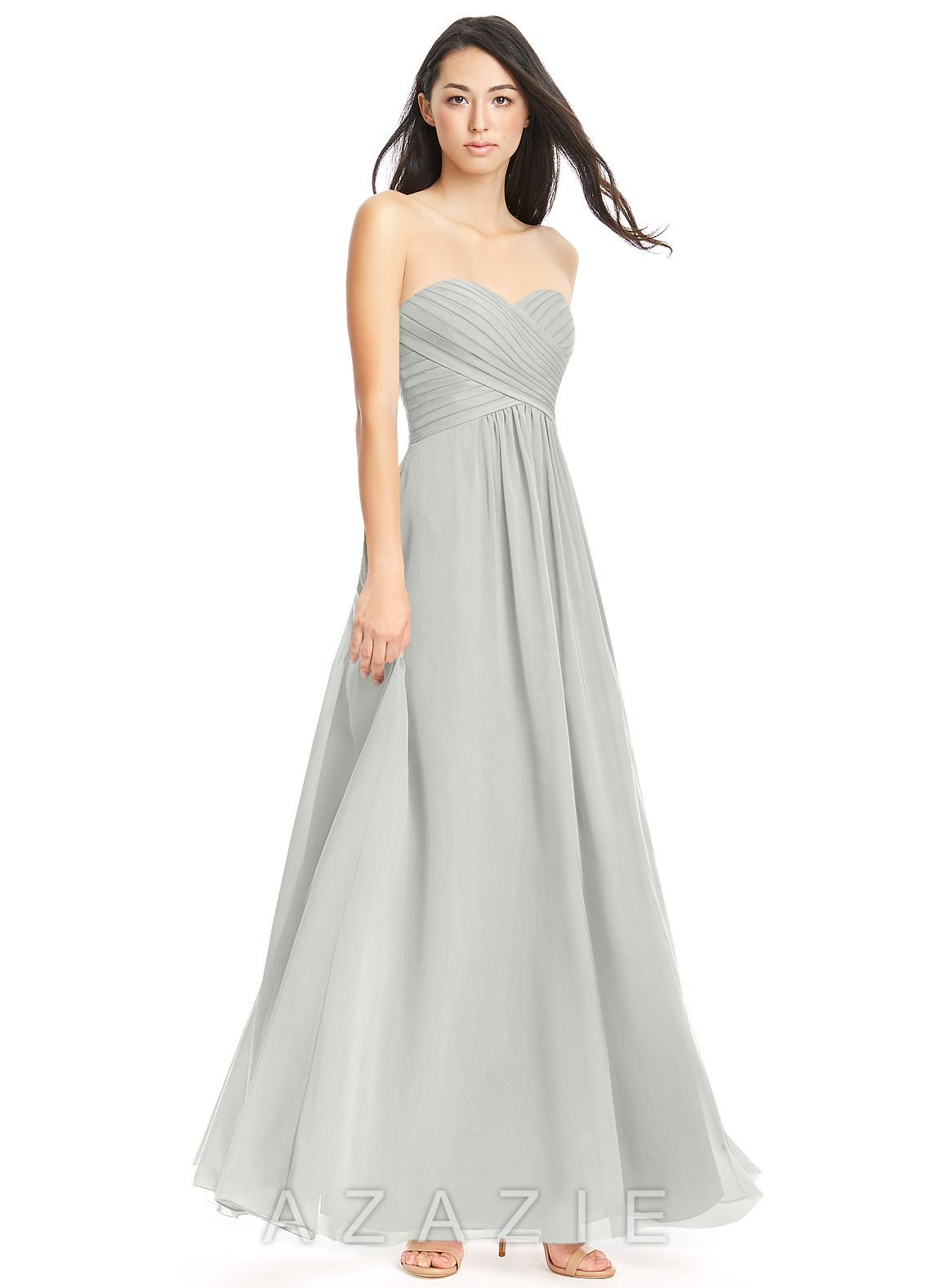 5cad58dd57 Azazie Yazmin Bridesmaid Dress - Silver
