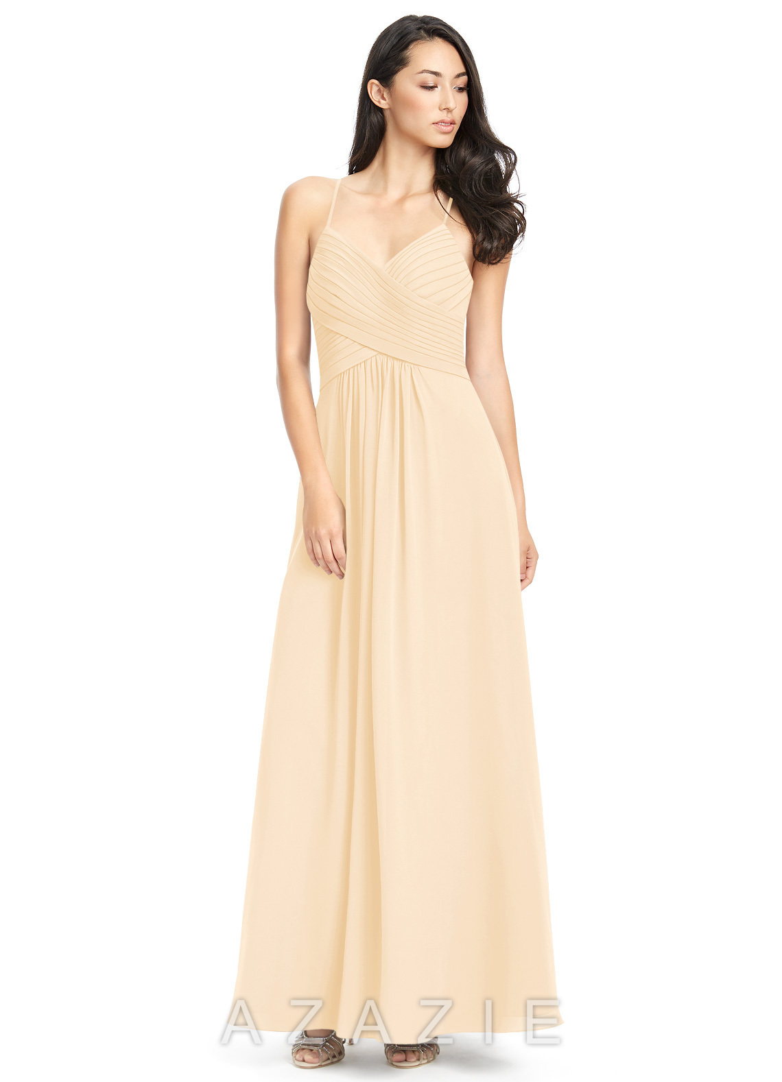 cd9f8b3a225 Azazie Haleigh Bridesmaid Dress - Peach