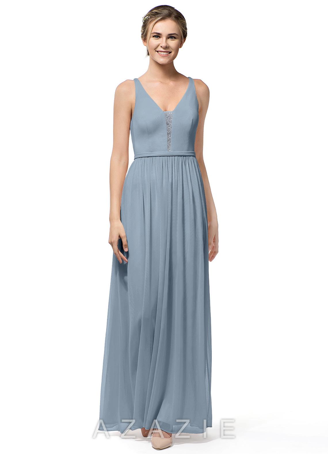 f7a7ca2a1d7 Azazie Nova Bridesmaid Dress - Dusty Blue