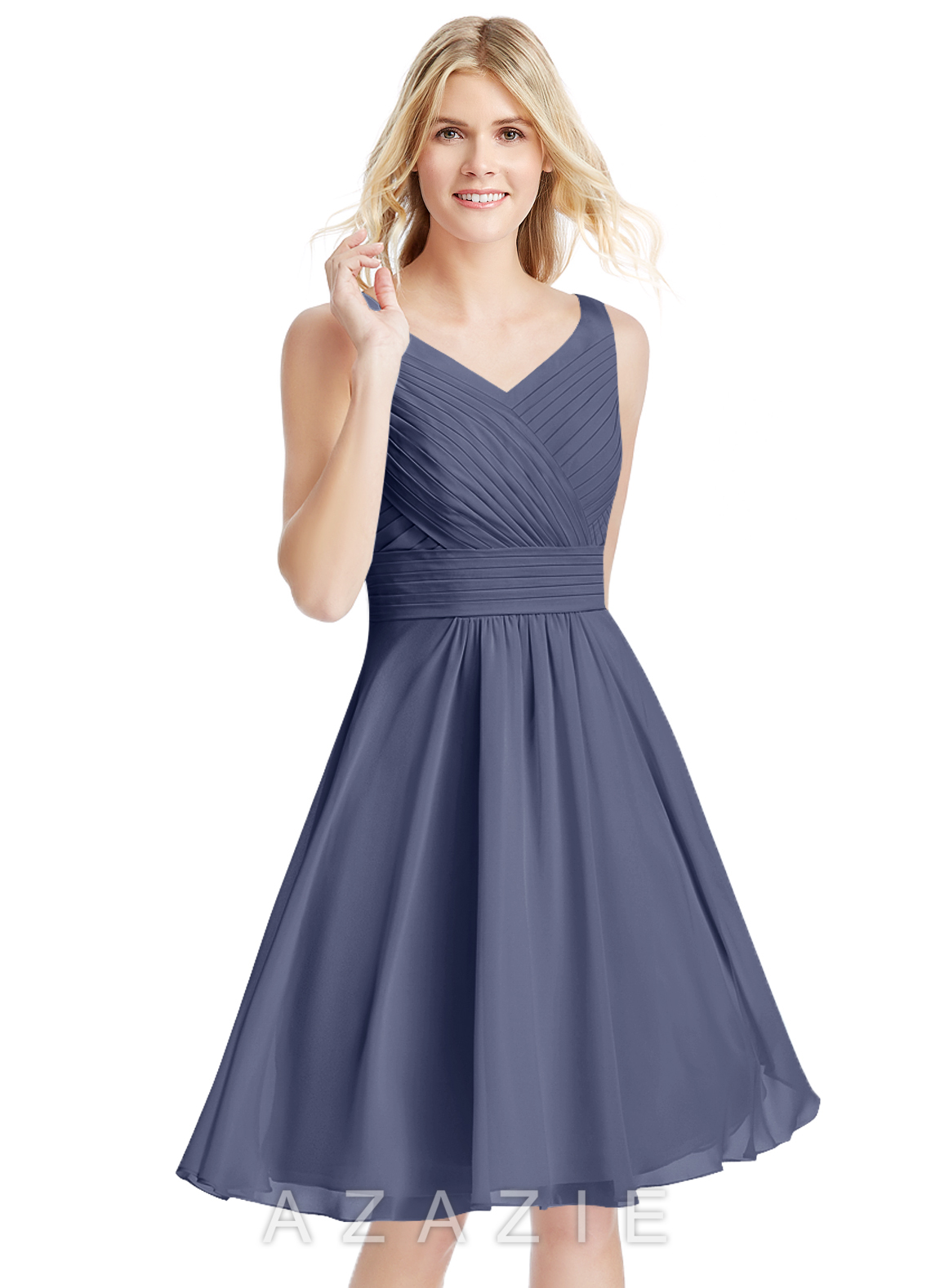 e6bb4cf88da5 Azazie Grace Bridesmaid Dress - Stormy