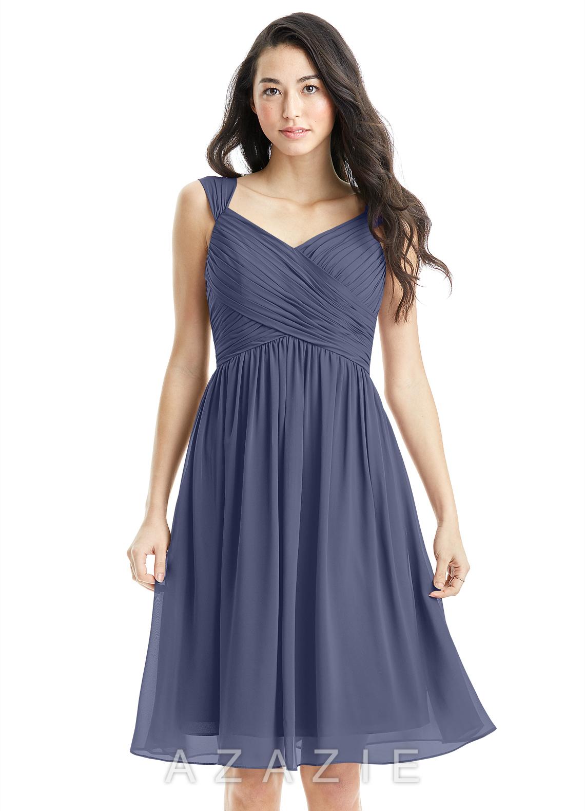 b4d8dbe020 Azazie Angie Bridesmaid Dress - Stormy