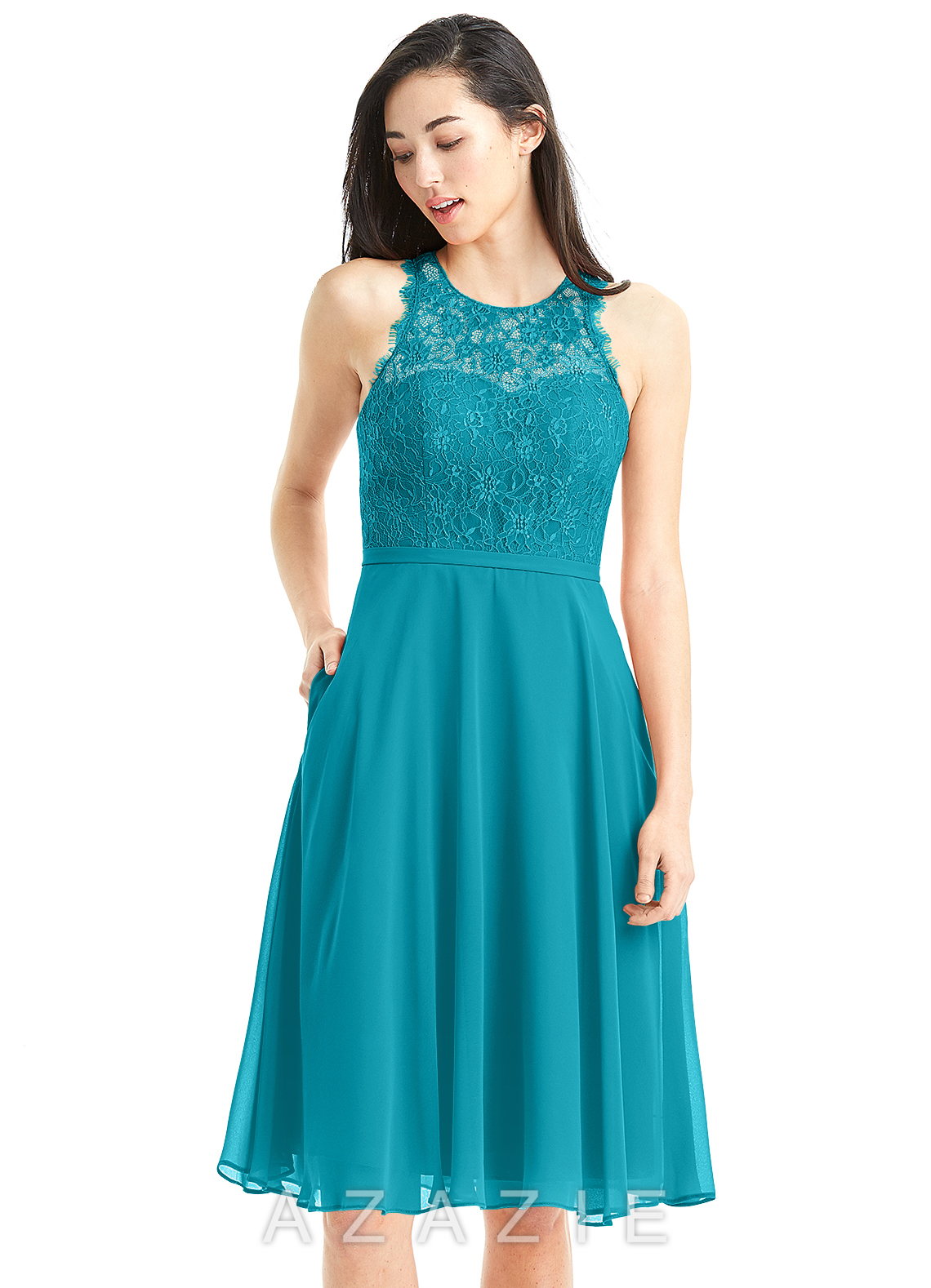 daa23159167 Azazie Sylvia Bridesmaid Dress - Jade