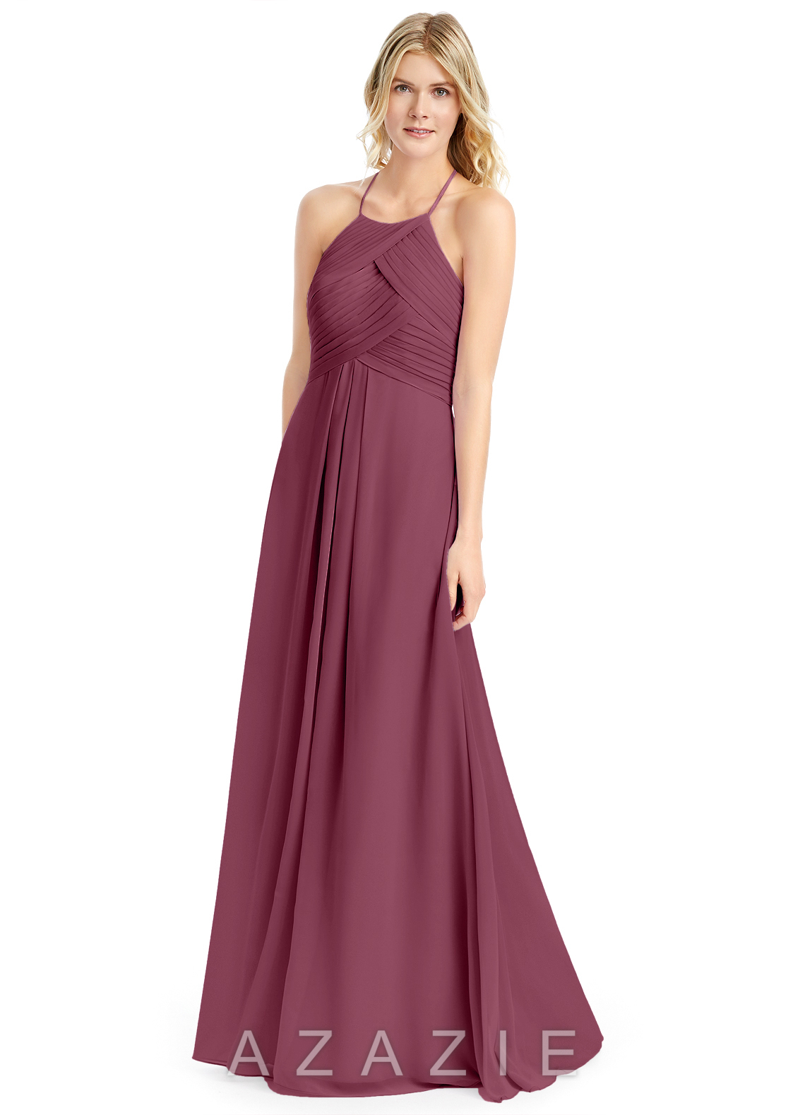 45d5a637231 Azazie Ginger Bridesmaid Dress - Mulberry