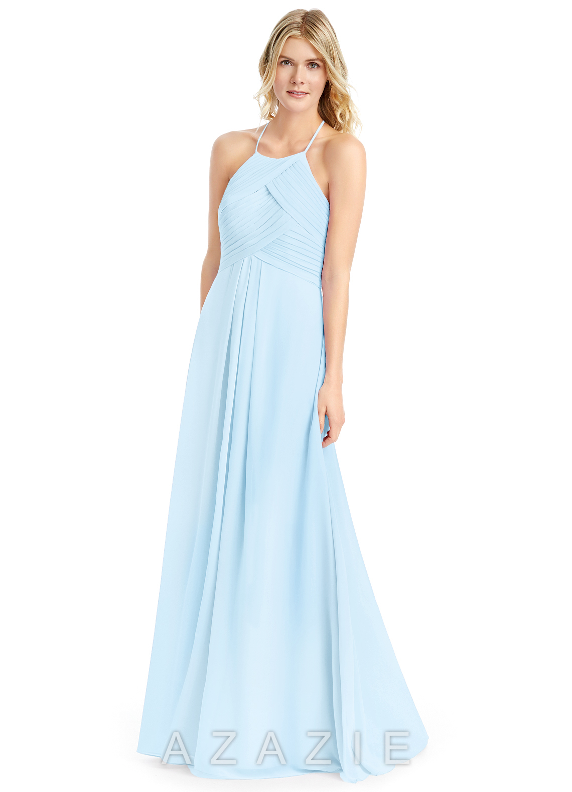 2111019328a Azazie Ginger Bridesmaid Dress - Sky Blue