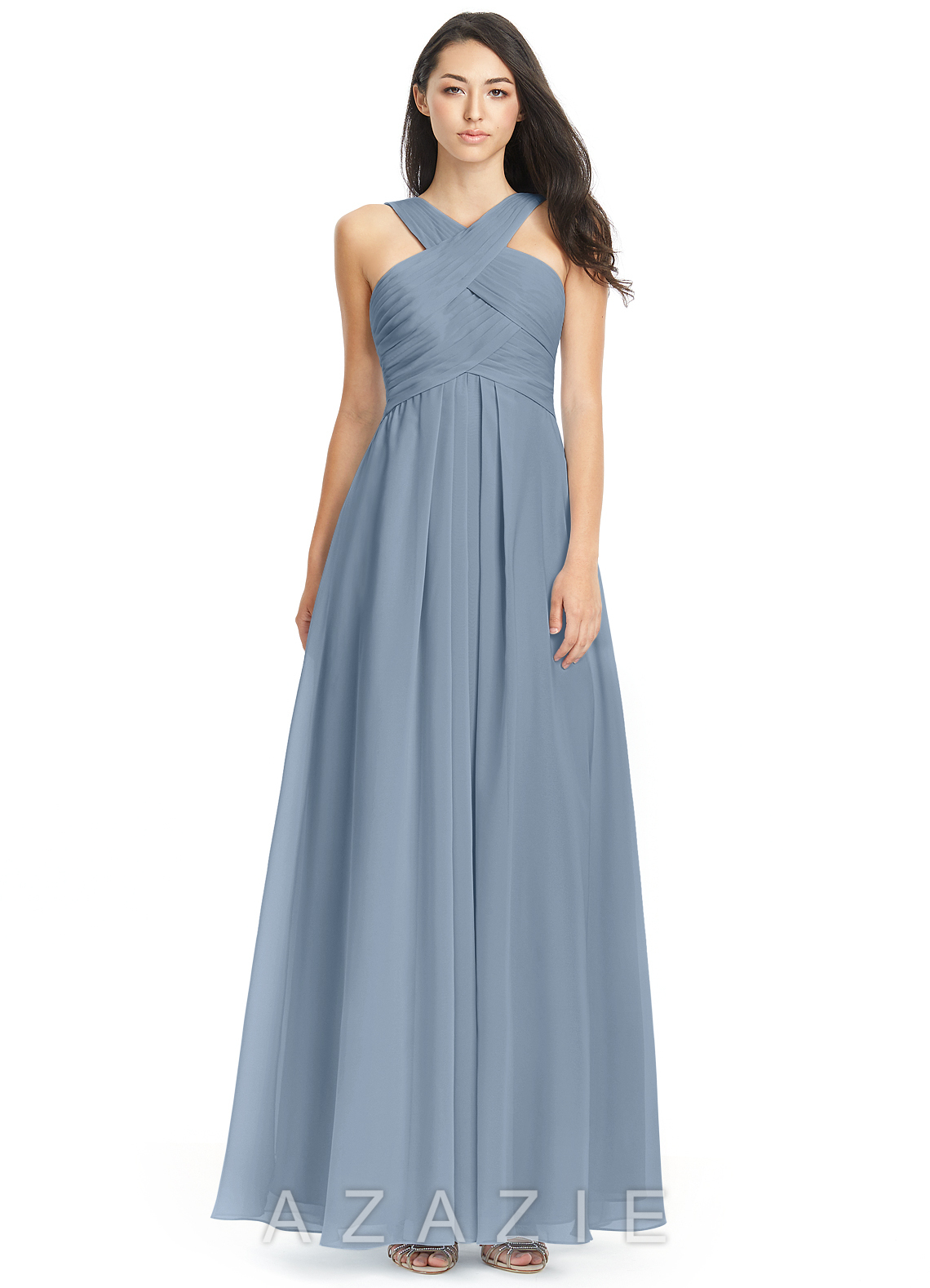cf0686b10ce Used Azazie Bridesmaid Dress Dusty Blue - Data Dynamic AG