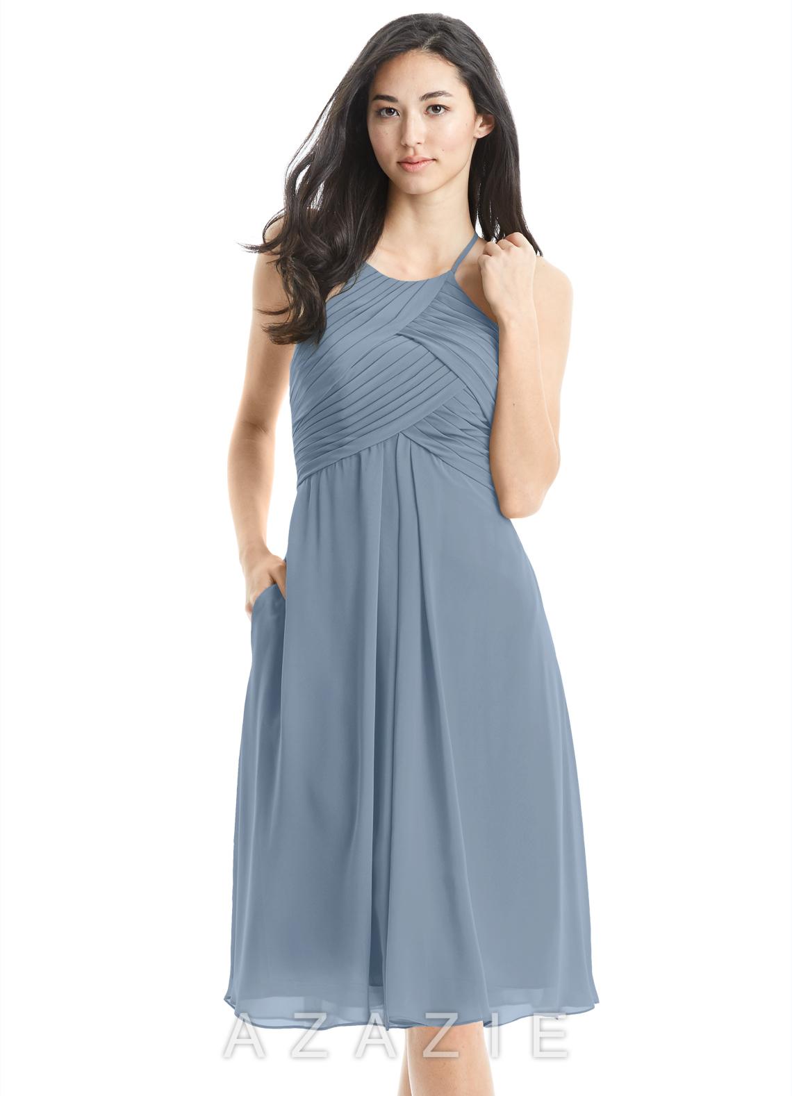 78a958276a Azazie Adriana Bridesmaid Dress - Dusty Blue
