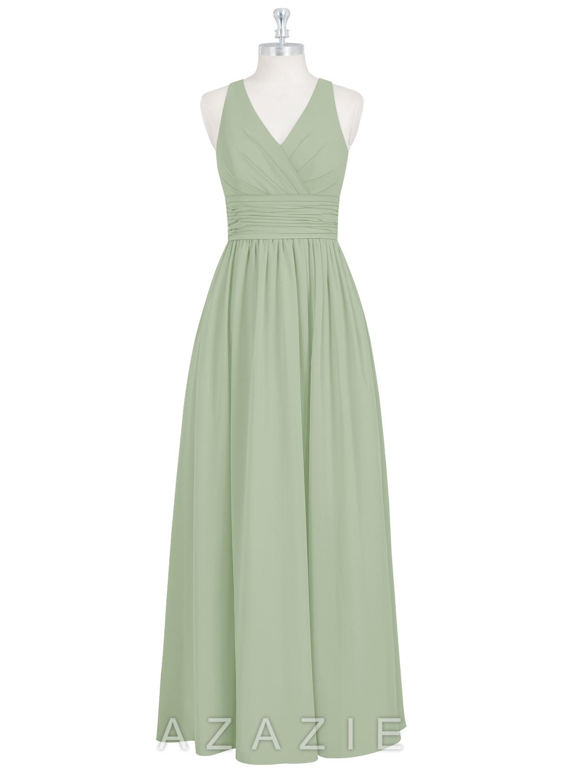 Azazie Natasha Bridesmaid Dress - Dusty Sage  022e1c61f