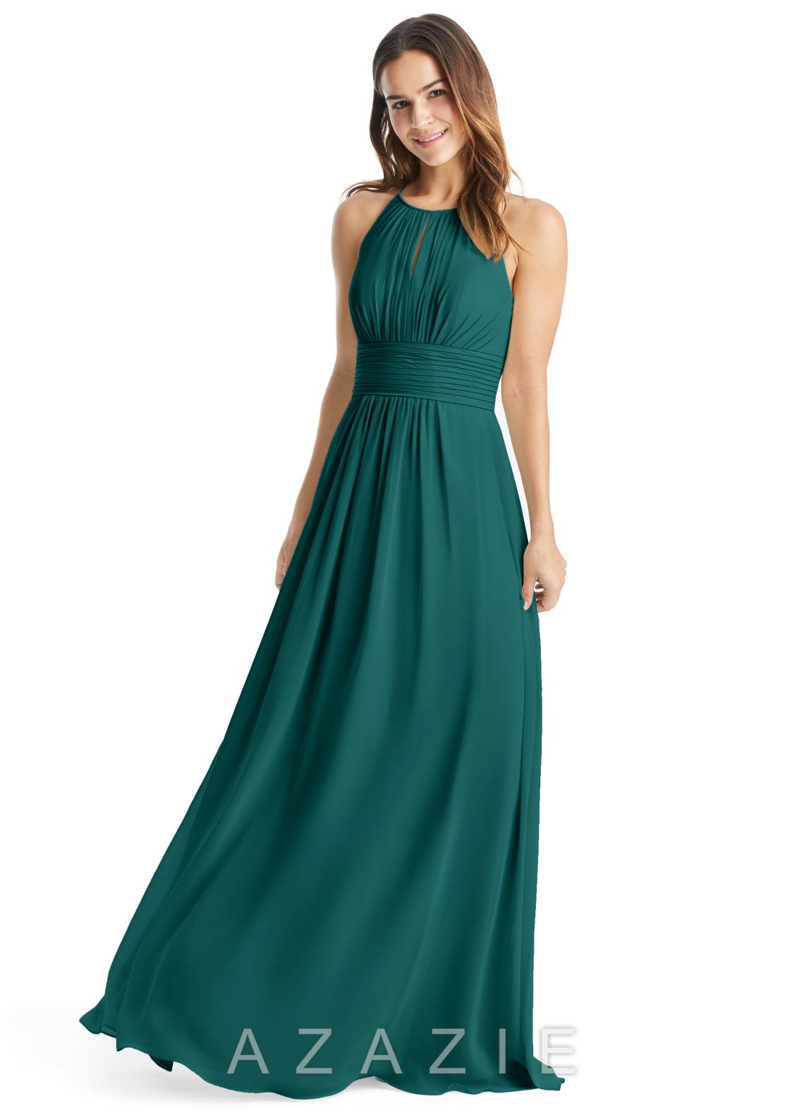 b87c96560bf Azazie Bonnie Bridesmaid Dress - Peacock