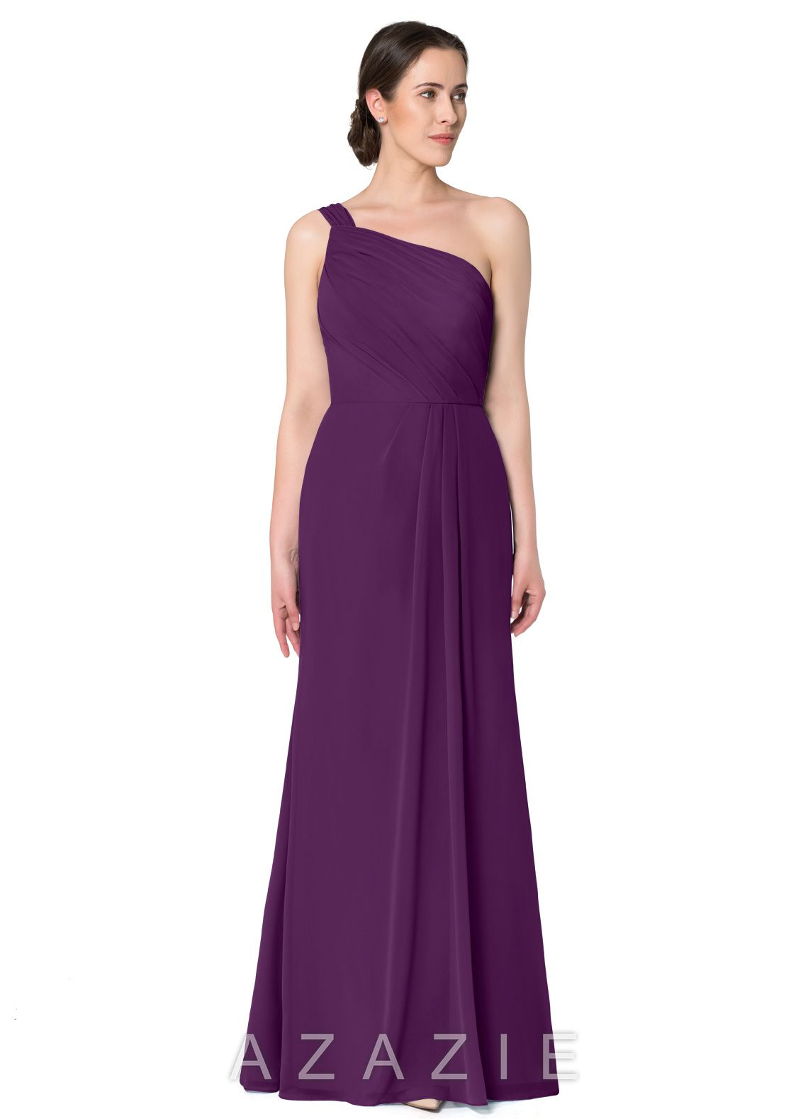 7a1e259bb0e Davids Bridal One Shoulder Plum Dress - Data Dynamic AG