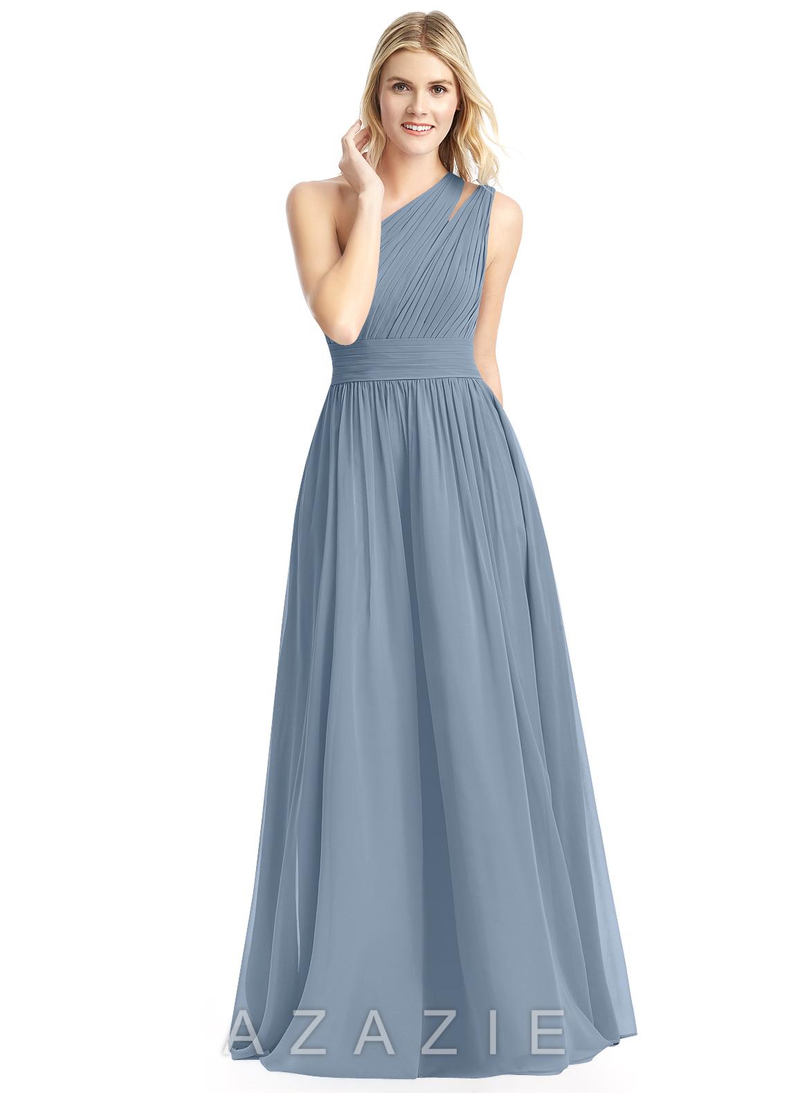 3b71fb6176f Azazie Molly Bridesmaid Dress - Dusty Blue
