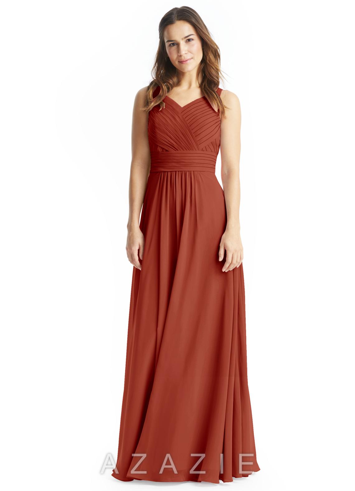 22b62202ef2 Azazie Pierrette Bridesmaid Dress - Rust