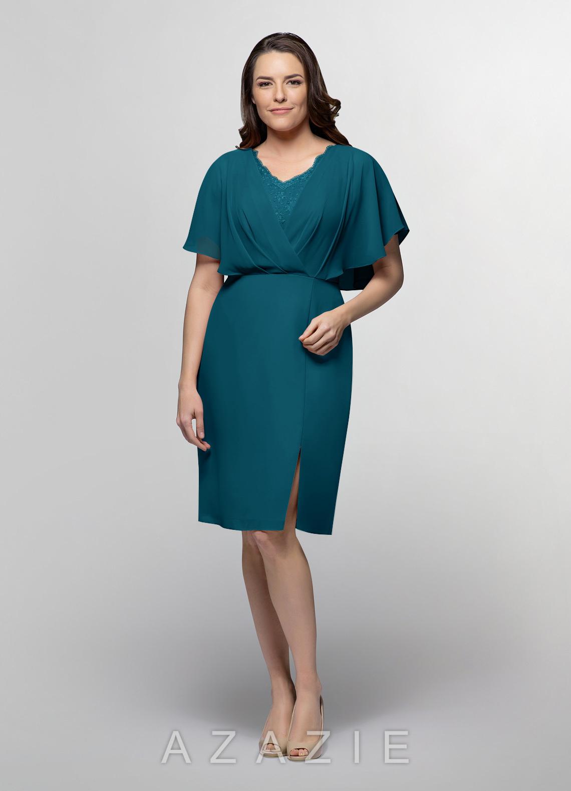 961e99e61d Azazie Aracely MBD Mother Of The Bride Dress - Ink Blue | Azazie