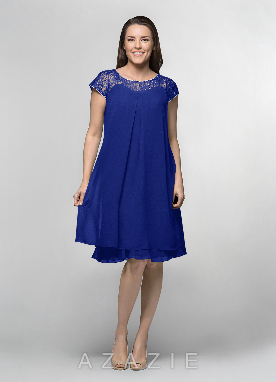 ad5260ca561 Azazie Tess MBD Mother Of The Bride Dress - Royal Blue
