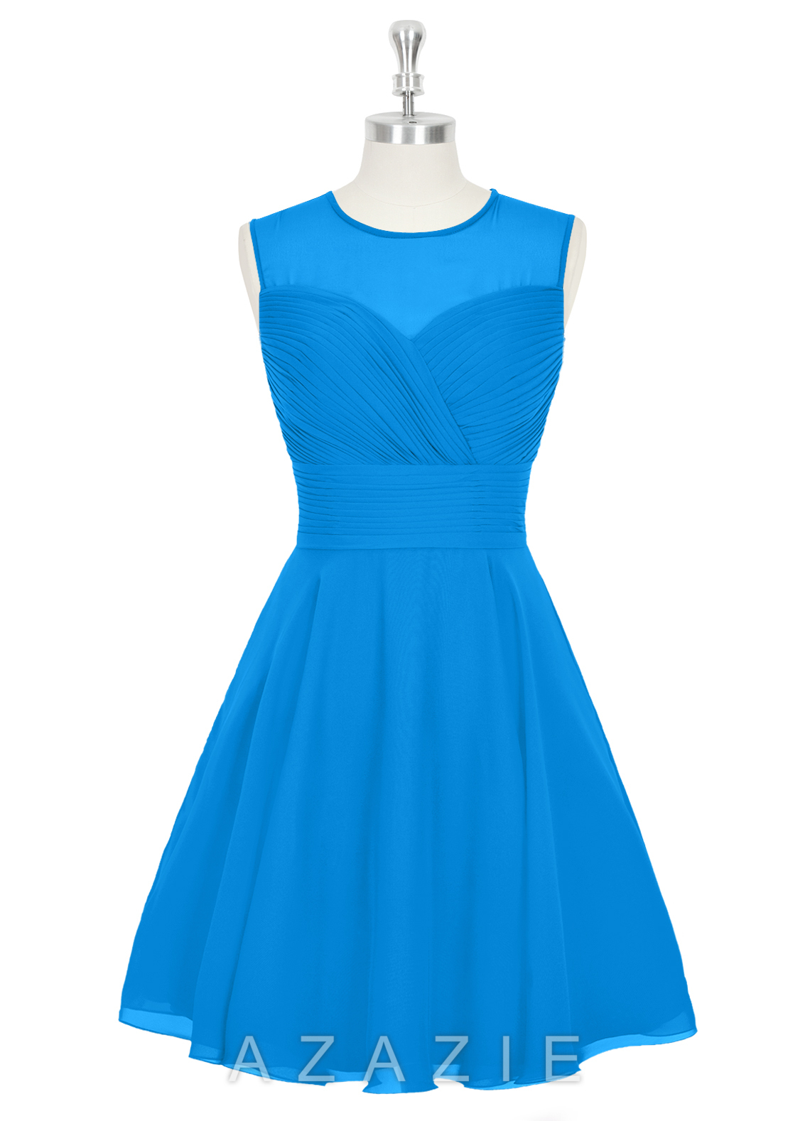 Azazie scarlett bridesmaid dress azazie for Ocean blue wedding dress