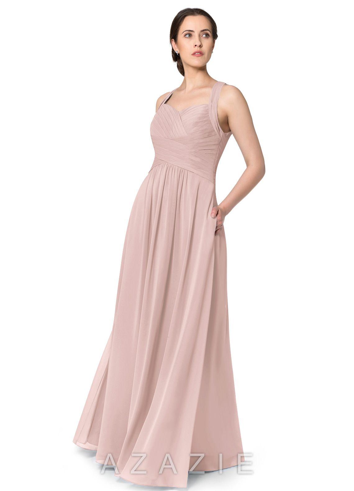 bbeba43b06d Azazie Claudia Bridesmaid Dress - Dusty Rose