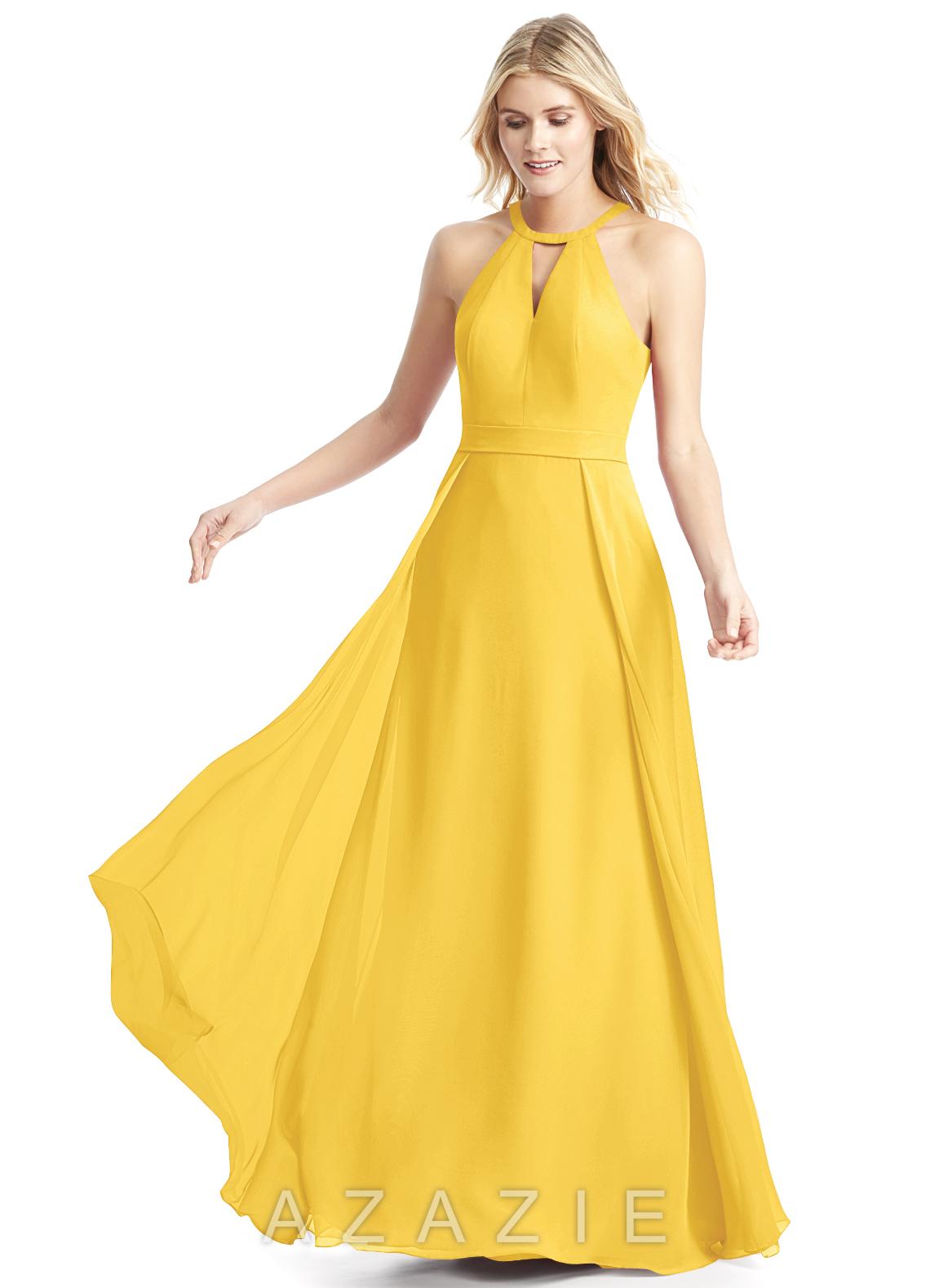 0b7bbc4afec Azazie Melody Bridesmaid Dress - Marigold