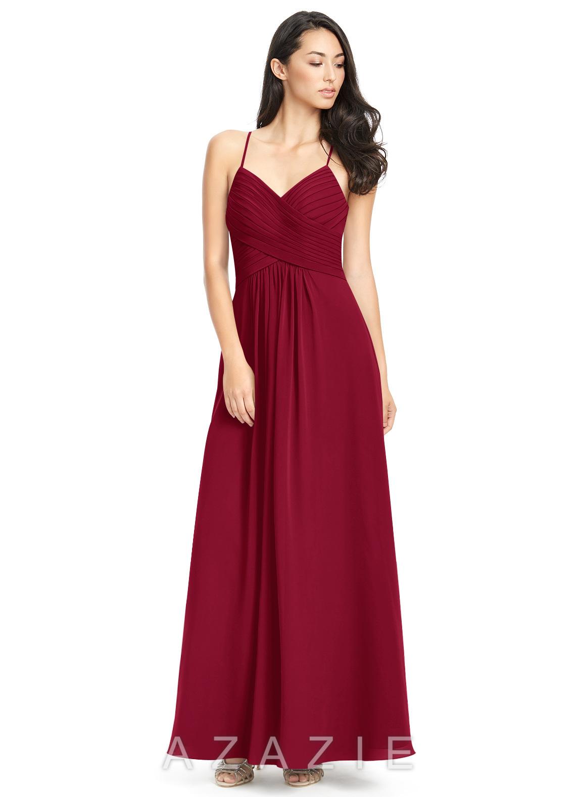 dfdad90b3bd Azazie Haleigh Bridesmaid Dress - Burgundy