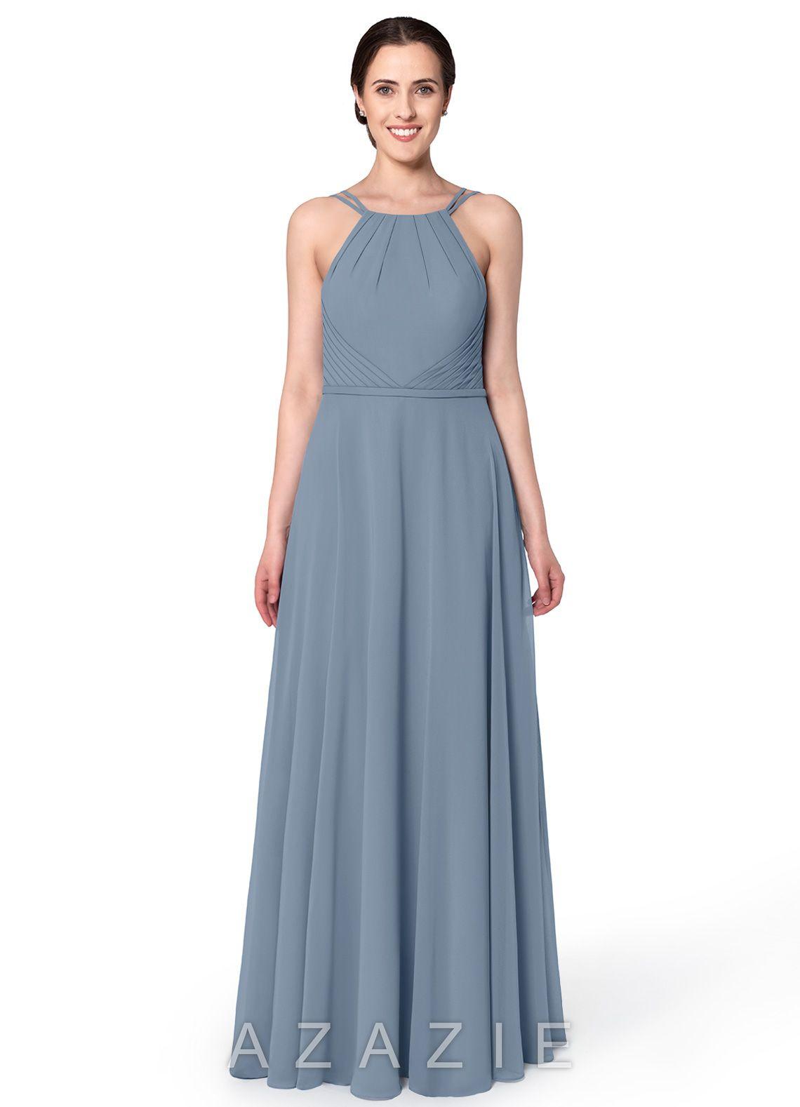 f240200565 Azazie Melinda Bridesmaid Dress - Dusty Blue