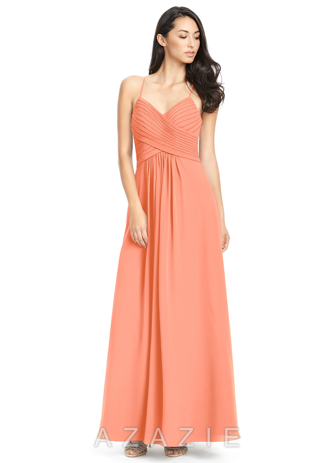 7a7aa6ece1f Azazie Haleigh Bridesmaid Dress - Sunset