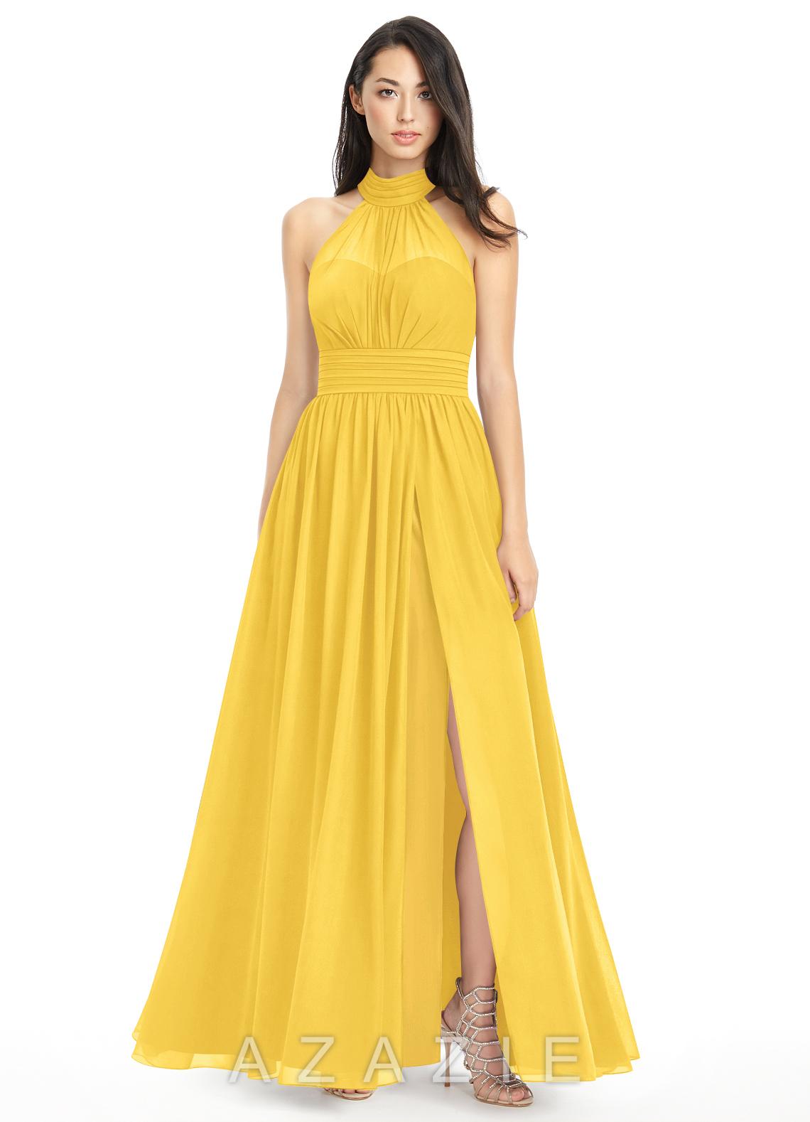 c26fc233d96 Azazie Iman Bridesmaid Dress - Marigold