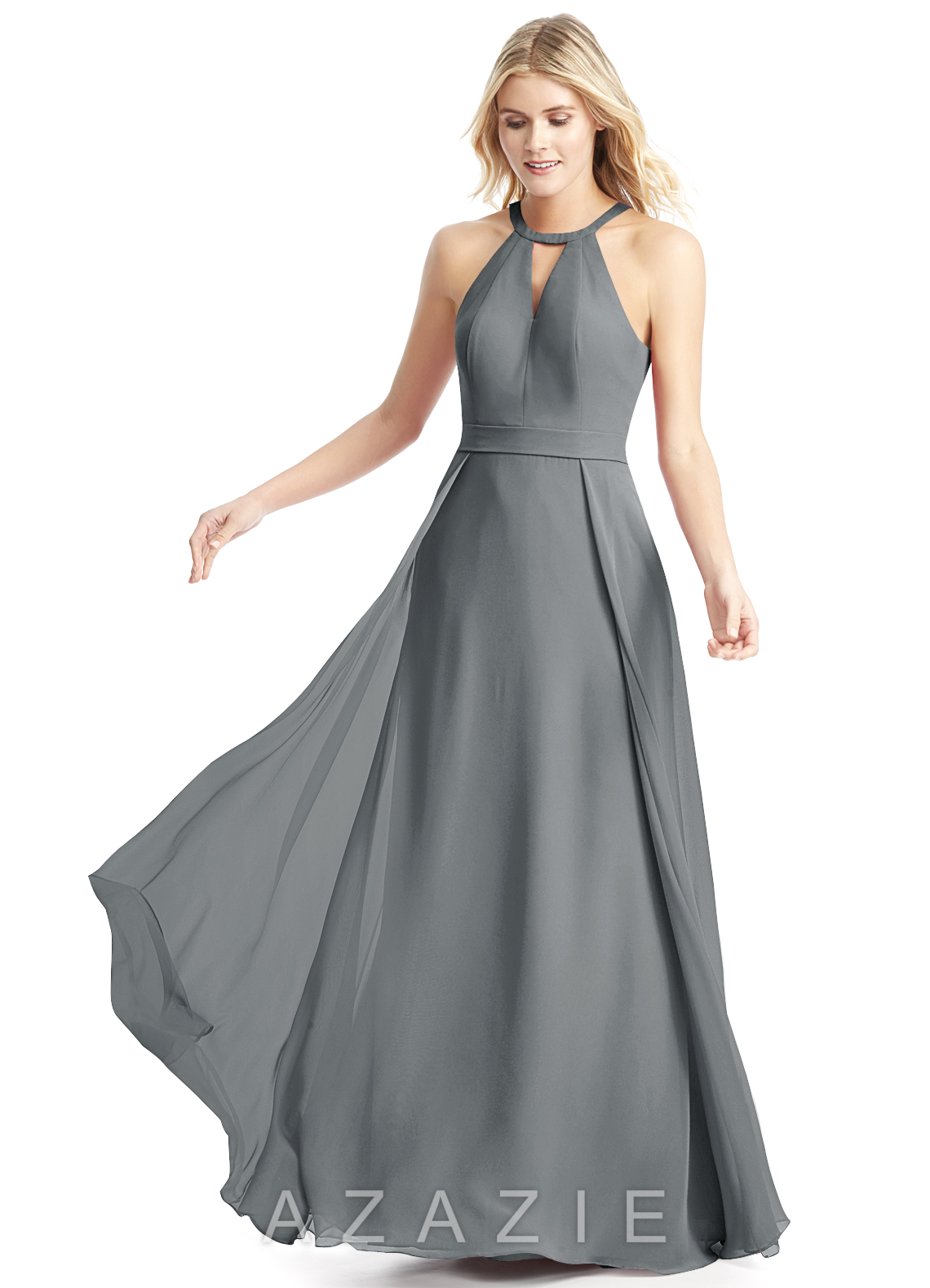 7bb5bf88814 Azazie Melody Bridesmaid Dress - Steel Grey