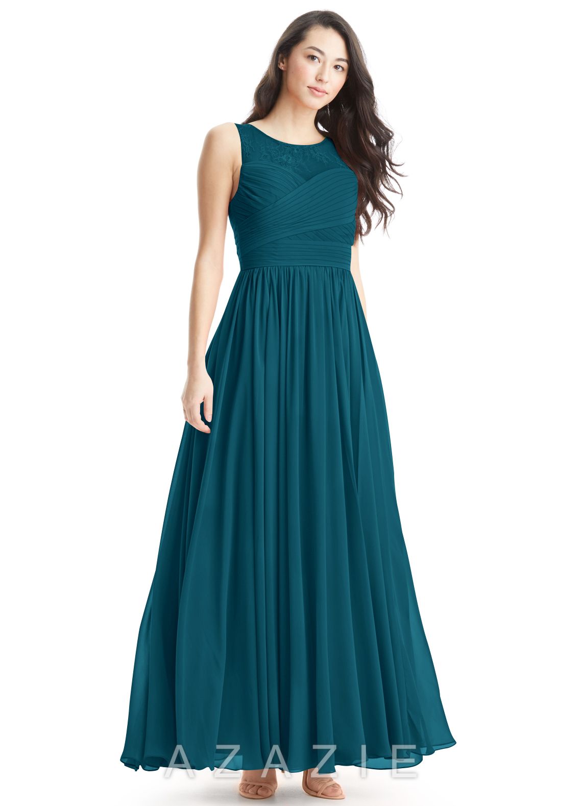 f6a9b7cefc9b Azazie Aliya Bridesmaid Dress - Ink Blue | Azazie