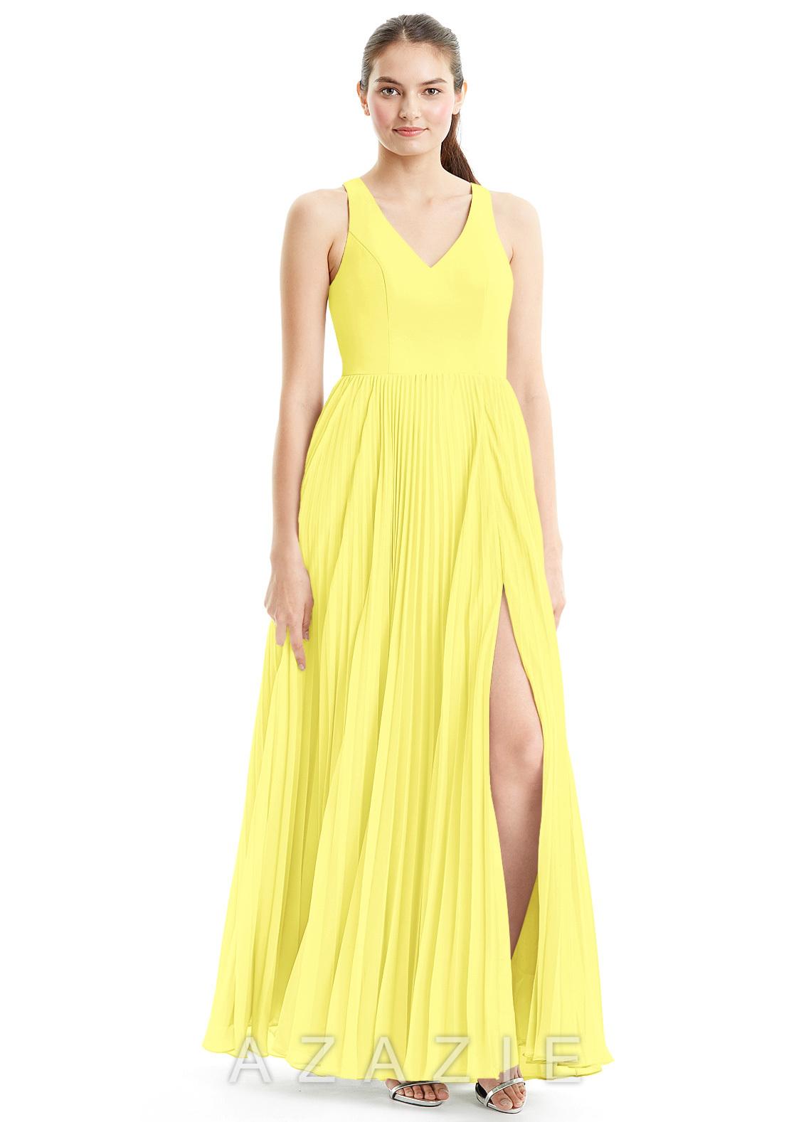 Azazie lindsey bridesmaid dress azazie color lemon ombrellifo Images