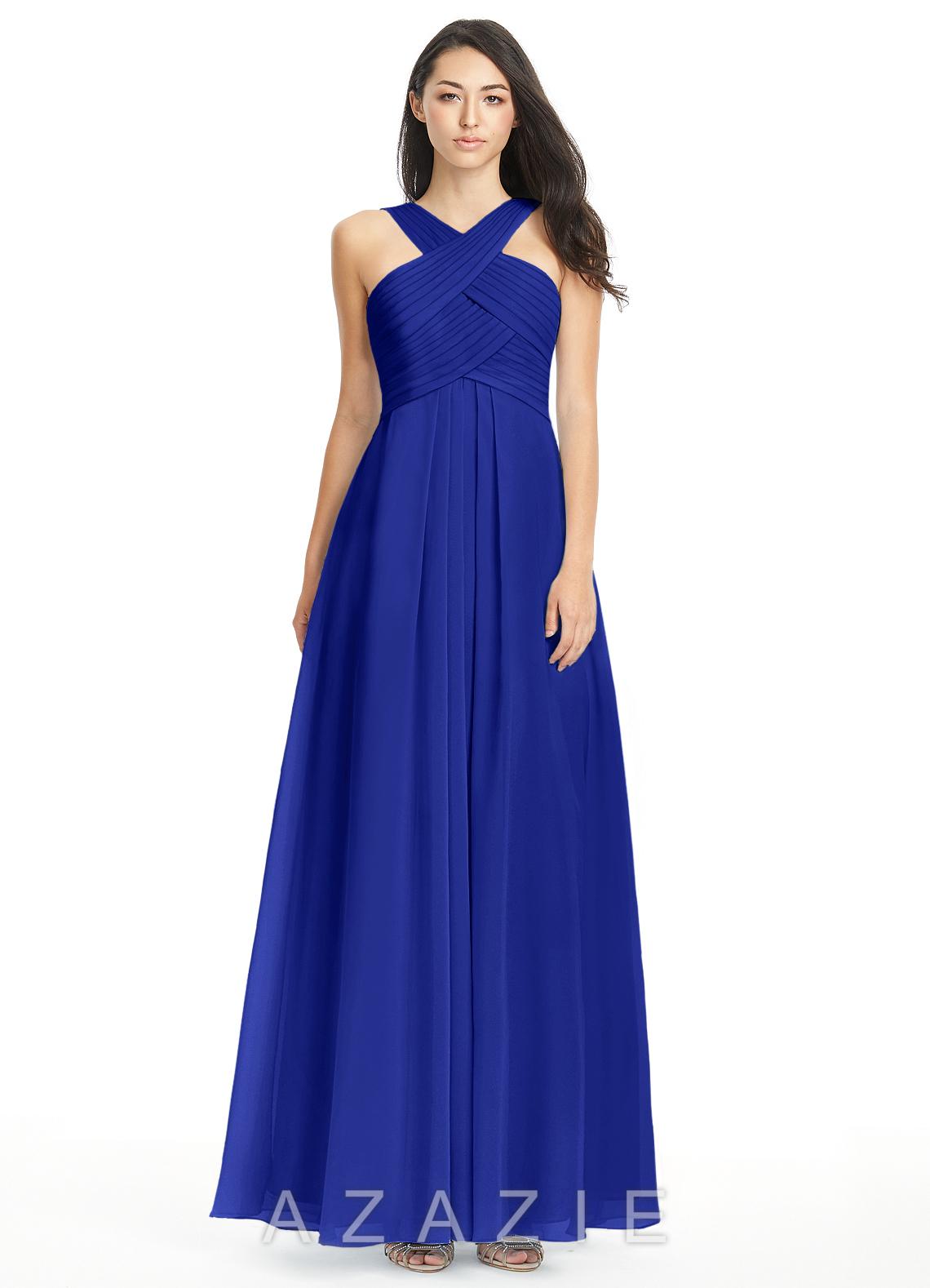 Azazie kaleigh bridesmaid dress azazie for Blue green wedding dress
