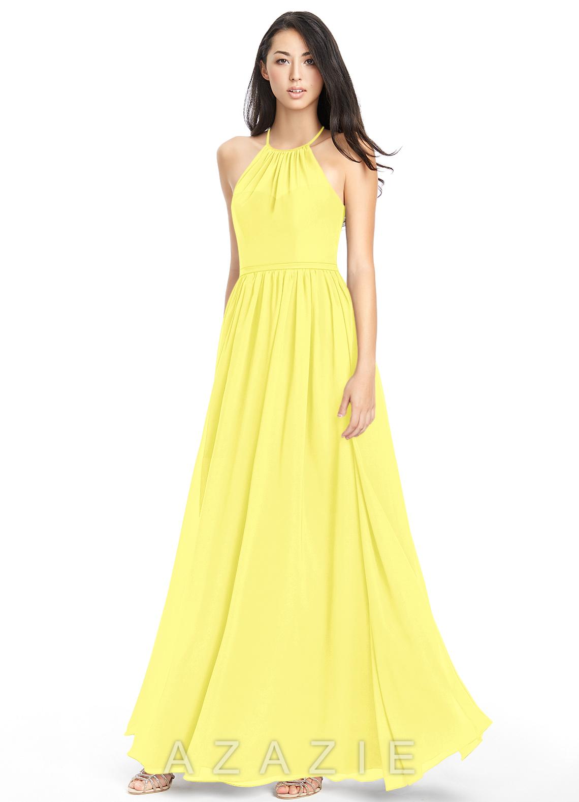 Azazie kailyn bridesmaid dress azazie color lemon ombrellifo Images