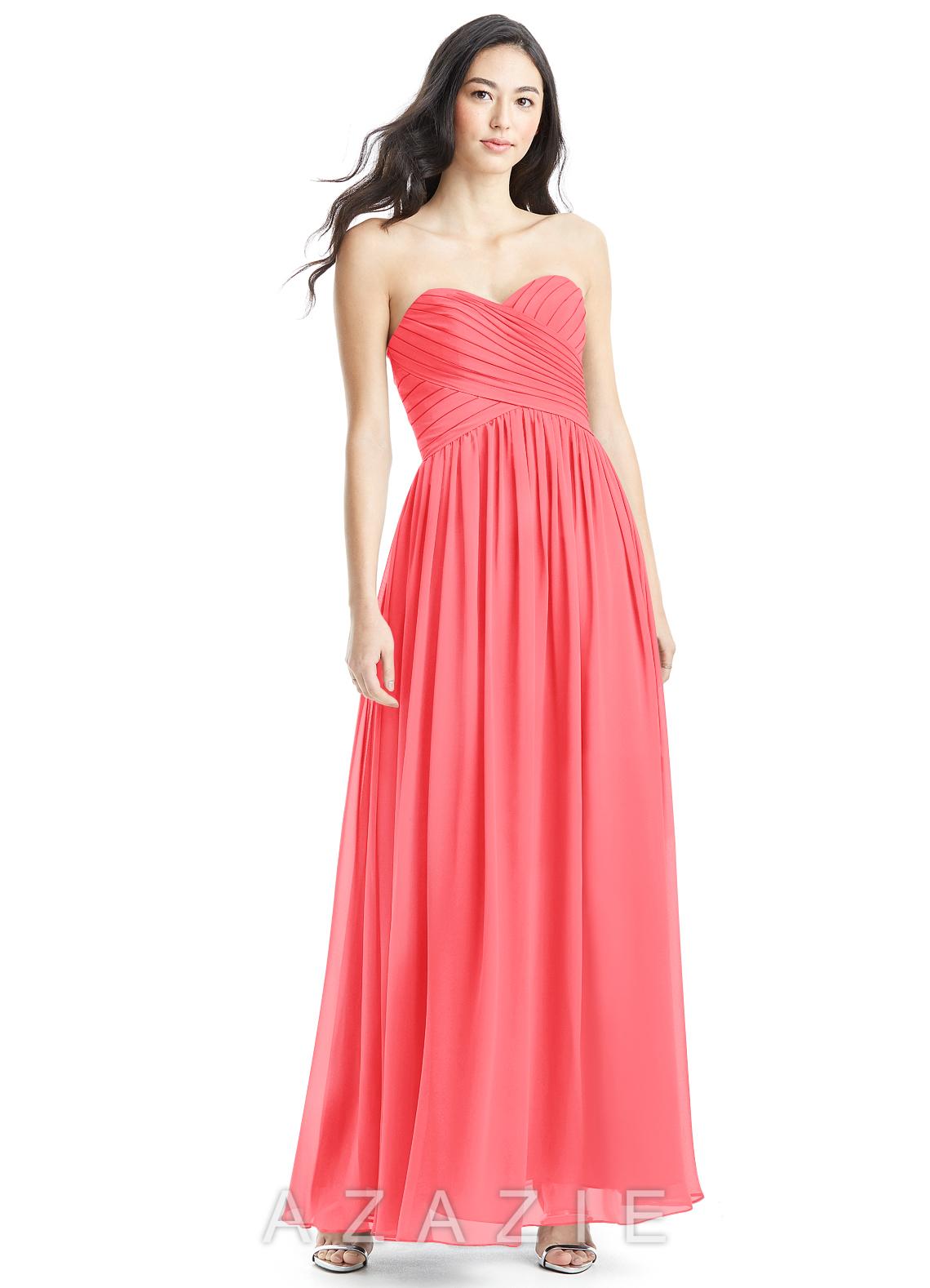 Azazie kristen bridesmaid dress azazie color watermelon ombrellifo Image collections