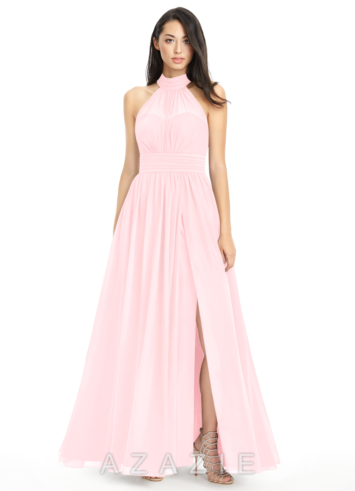 Pink Strapless Bridesmaid Dress