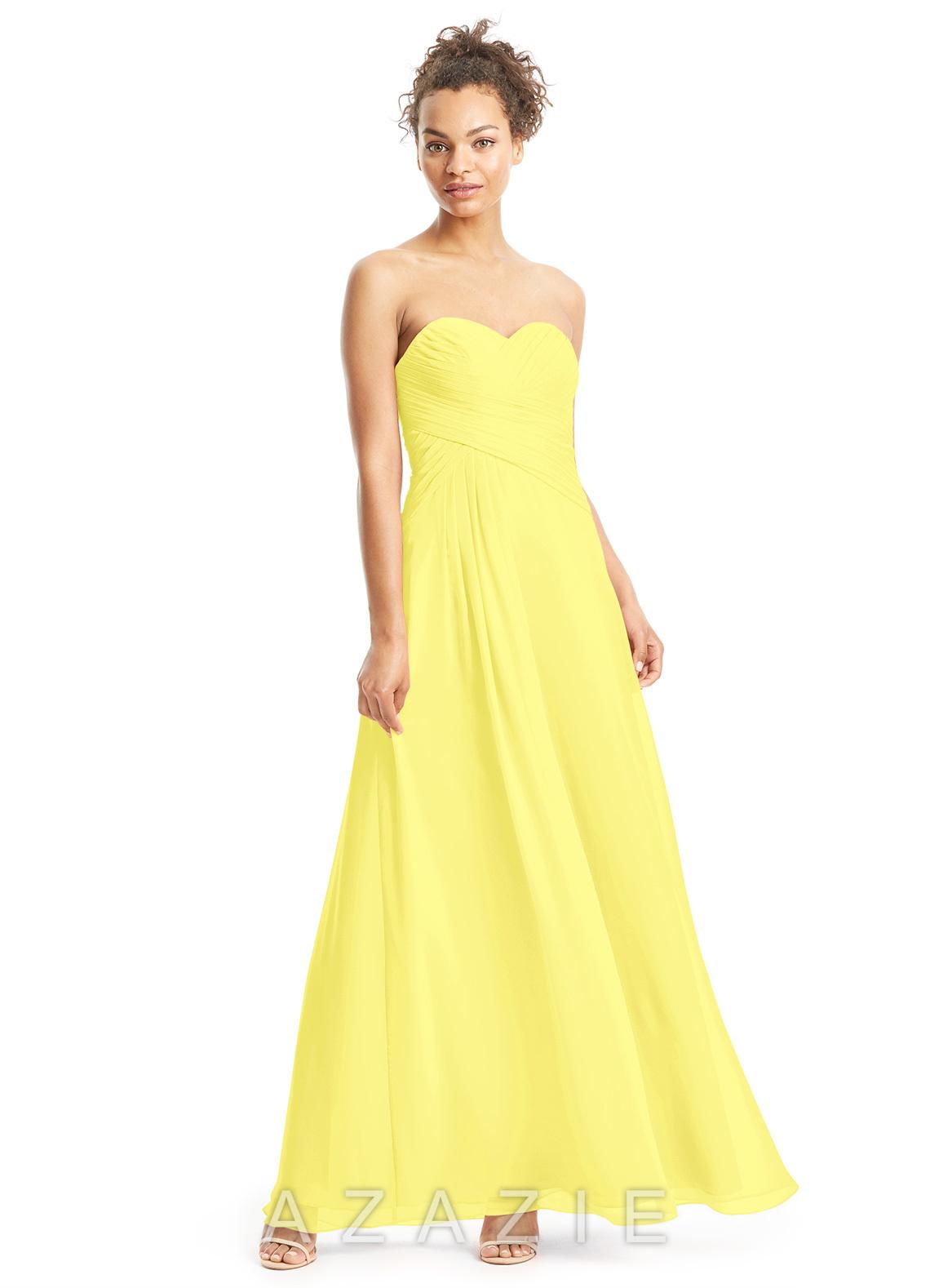Azazie magnolia bridesmaid dress azazie color lemon ombrellifo Images