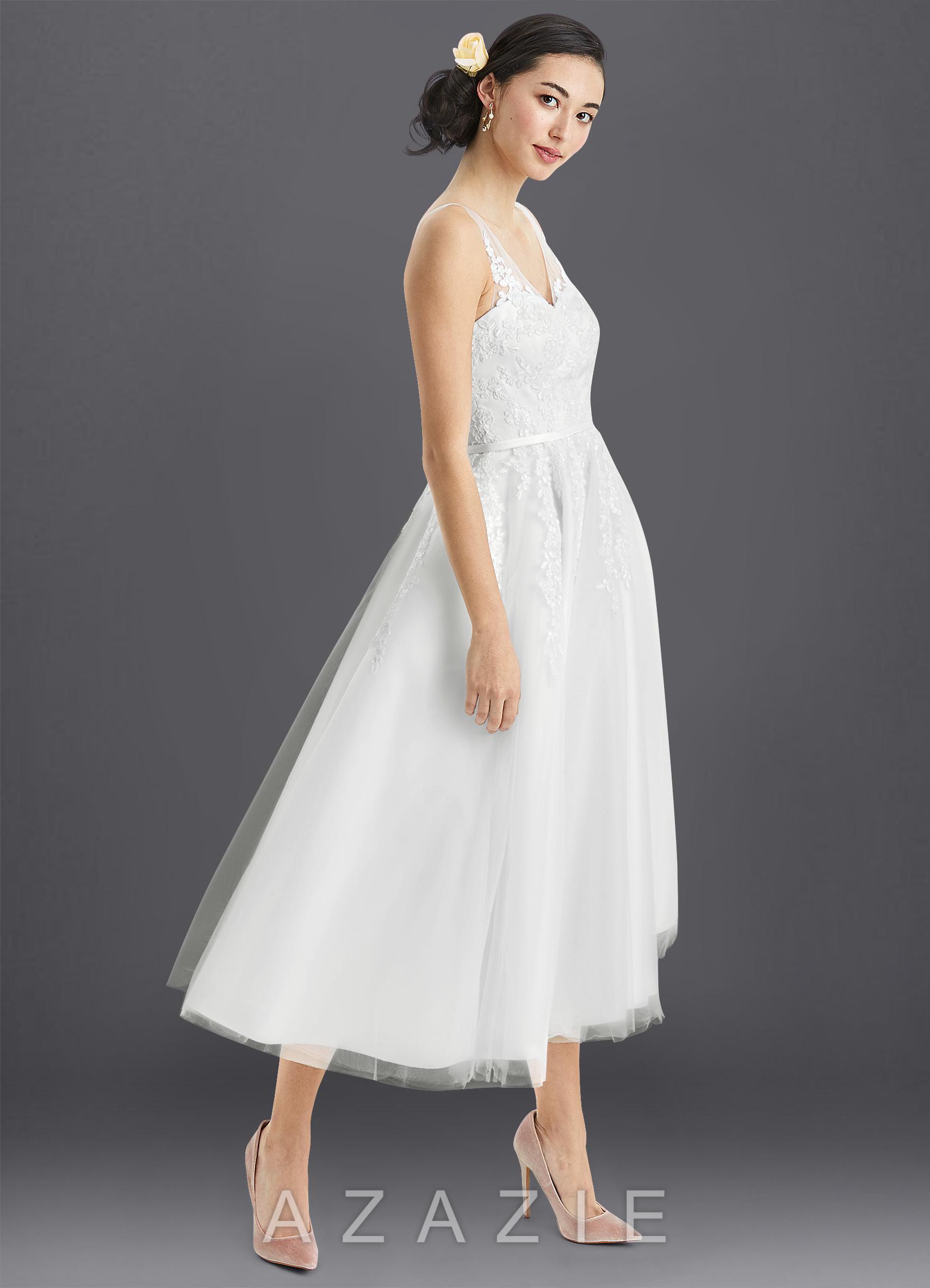 Azazie Dolores BG Wedding Dress Azazie