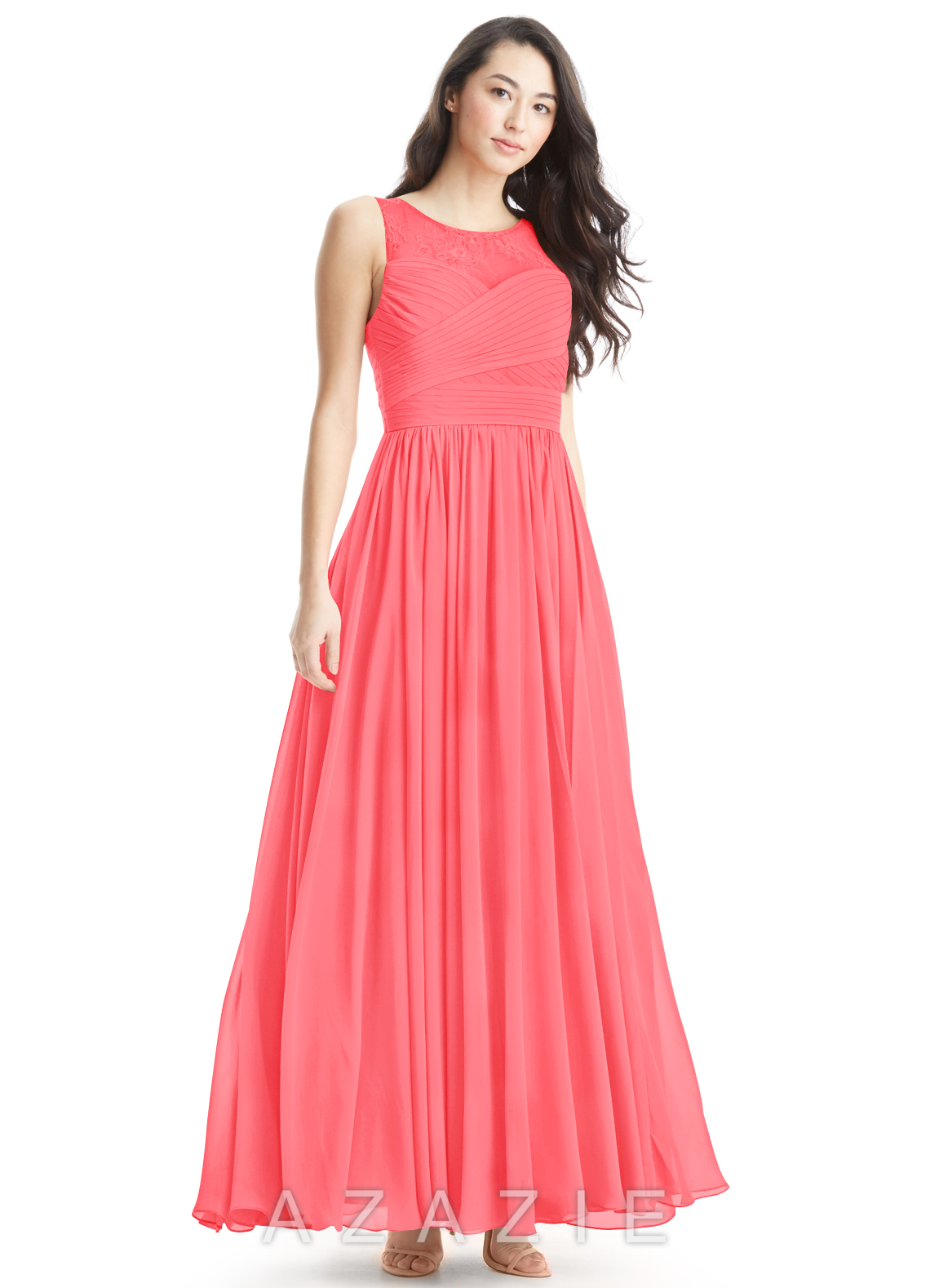 Azazie aliya bridesmaid dress azazie color watermelon ombrellifo Image collections