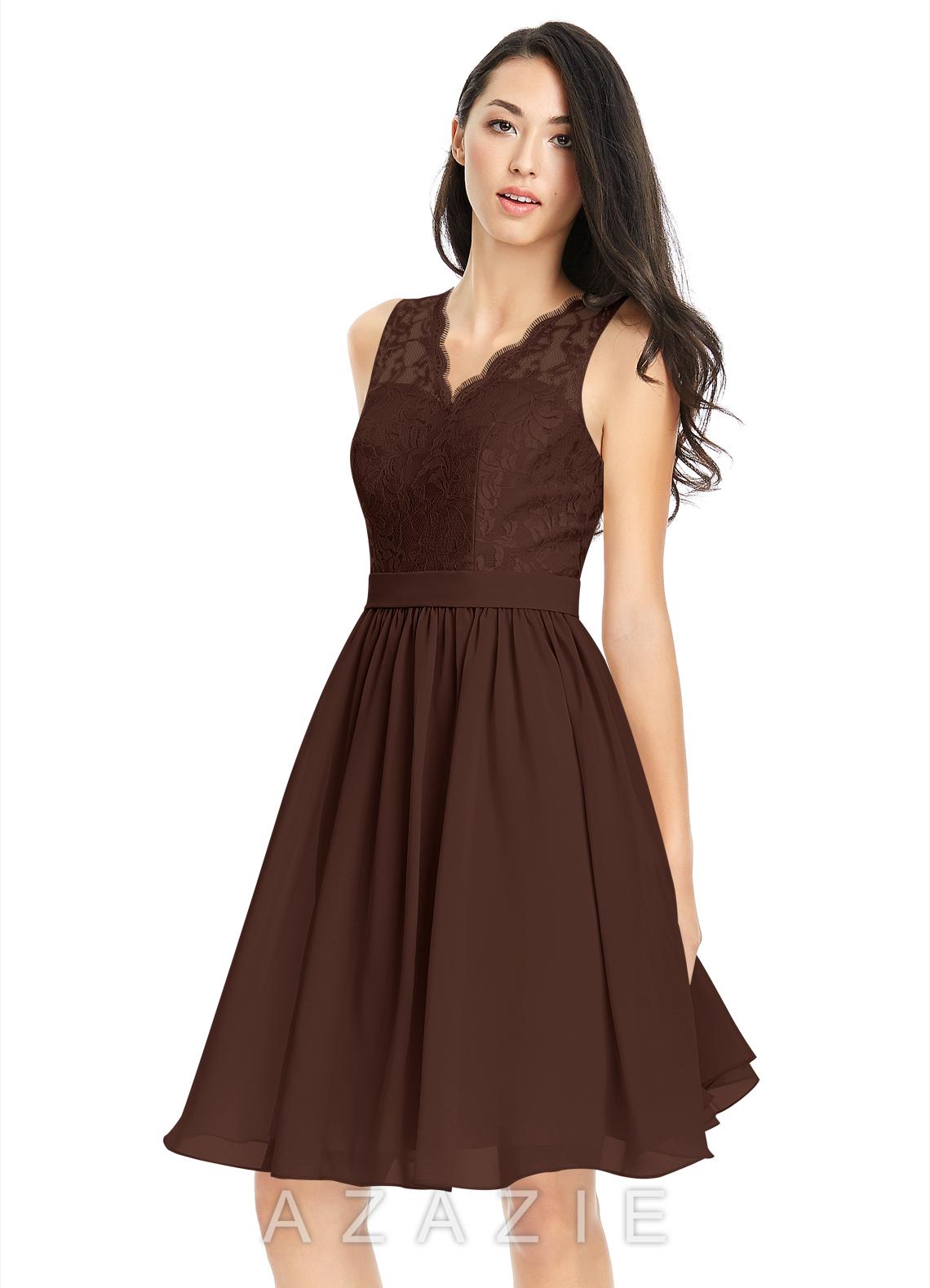 Azazie cierra bridesmaid dress azazie color chocolate ombrellifo Choice Image