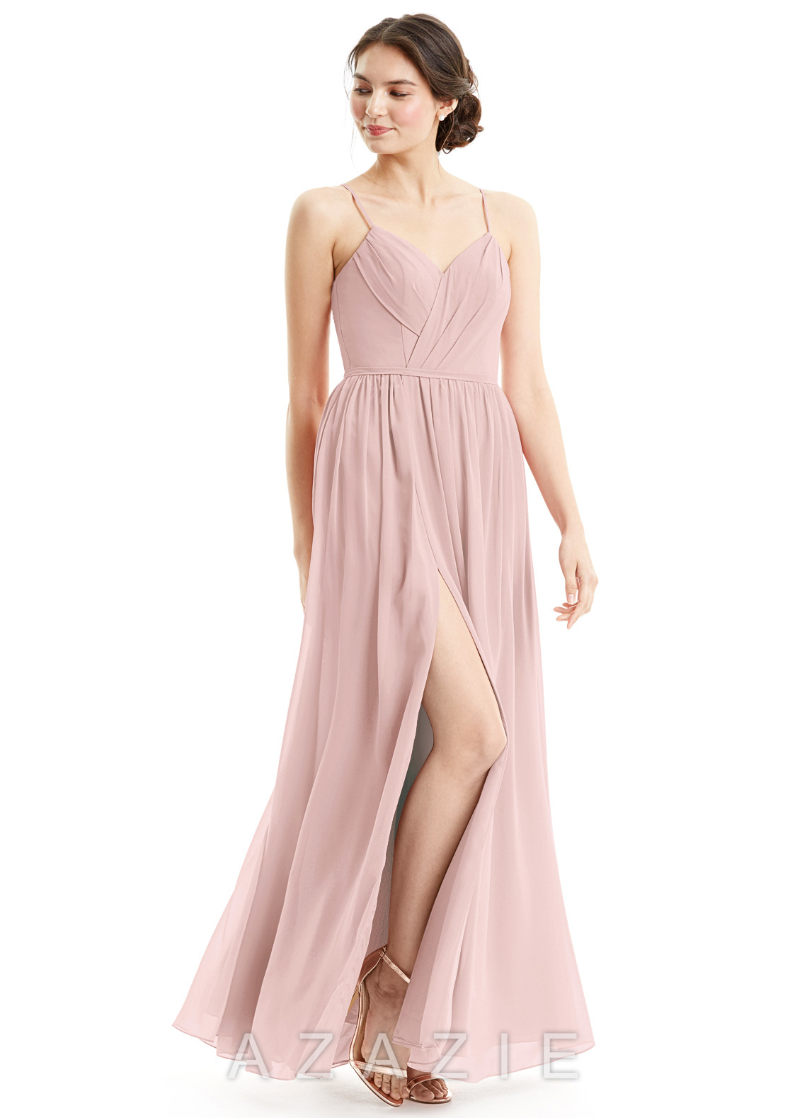 Azazie cora bridesmaid dress azazie color dusty rose ombrellifo Image collections