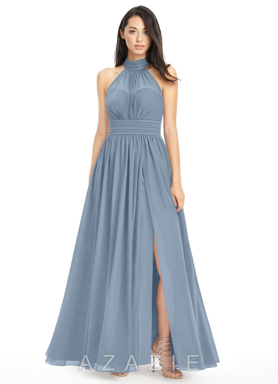 Blue dress long 7 64