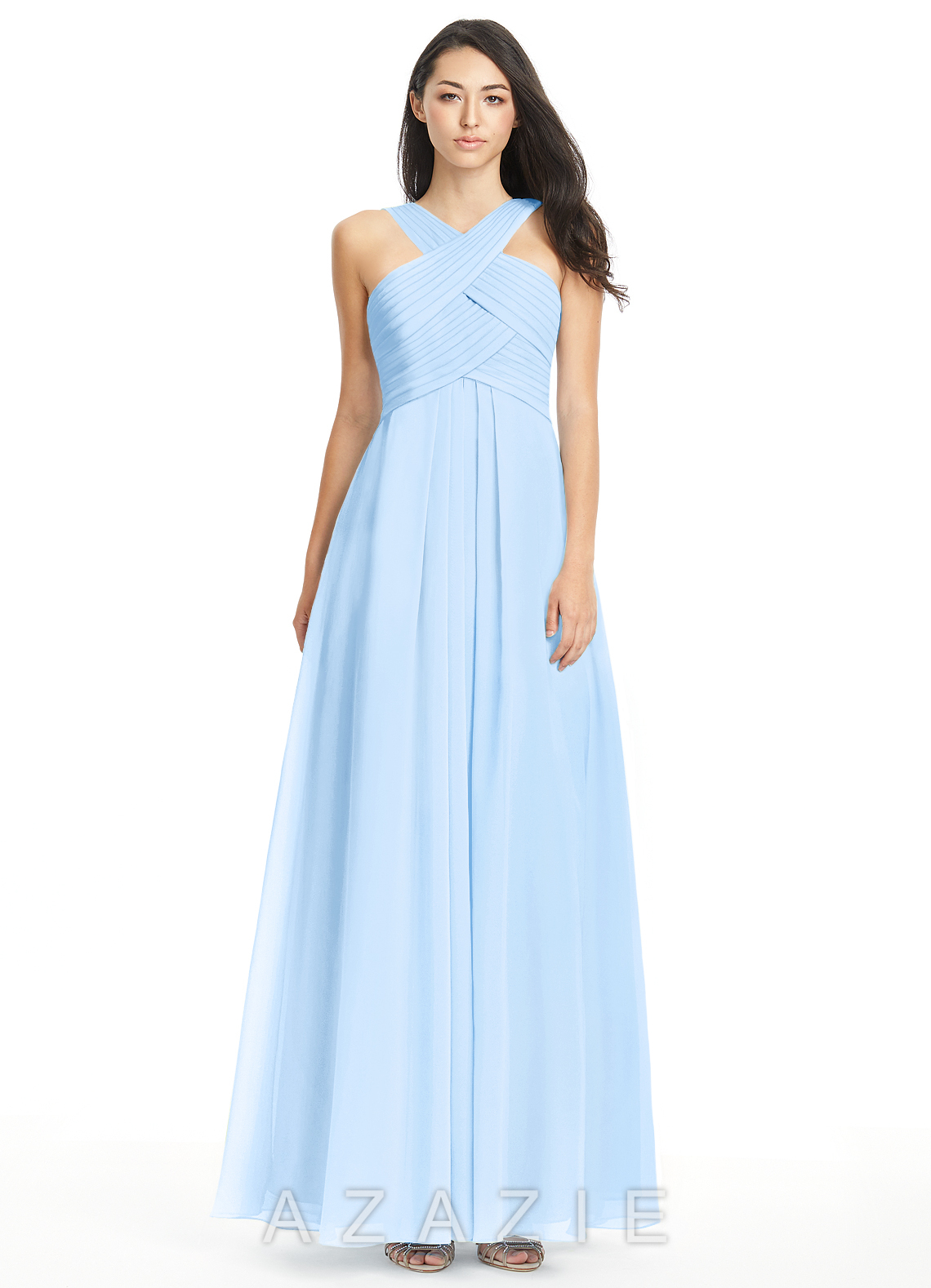 Sky Blue Bridesmaid Dresses Gowns
