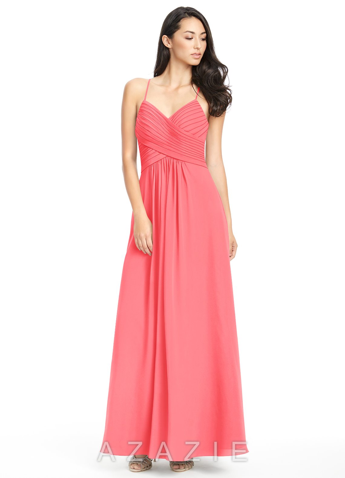 Azazie haleigh bridesmaid dress azazie color watermelon ombrellifo Image collections