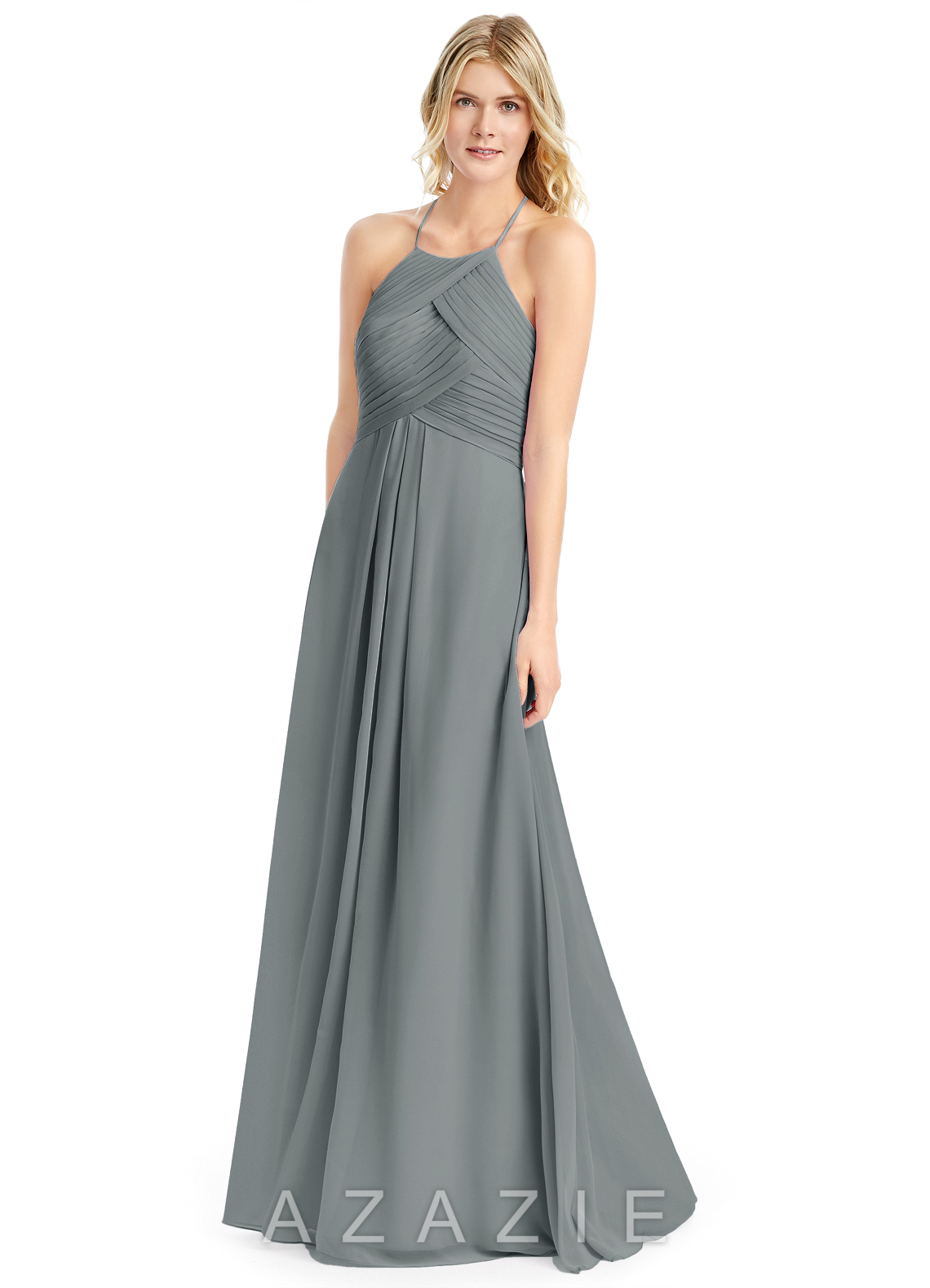 Steel grey bridesmaid dresses steel grey gowns azazie azazie ginger azazie ginger ombrellifo Images