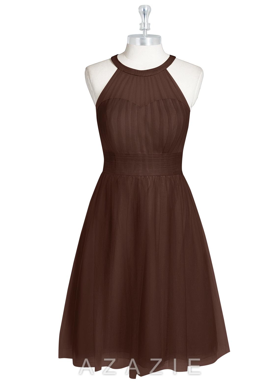 Azazie mackenzie bridesmaid dress azazie color chocolate ombrellifo Choice Image