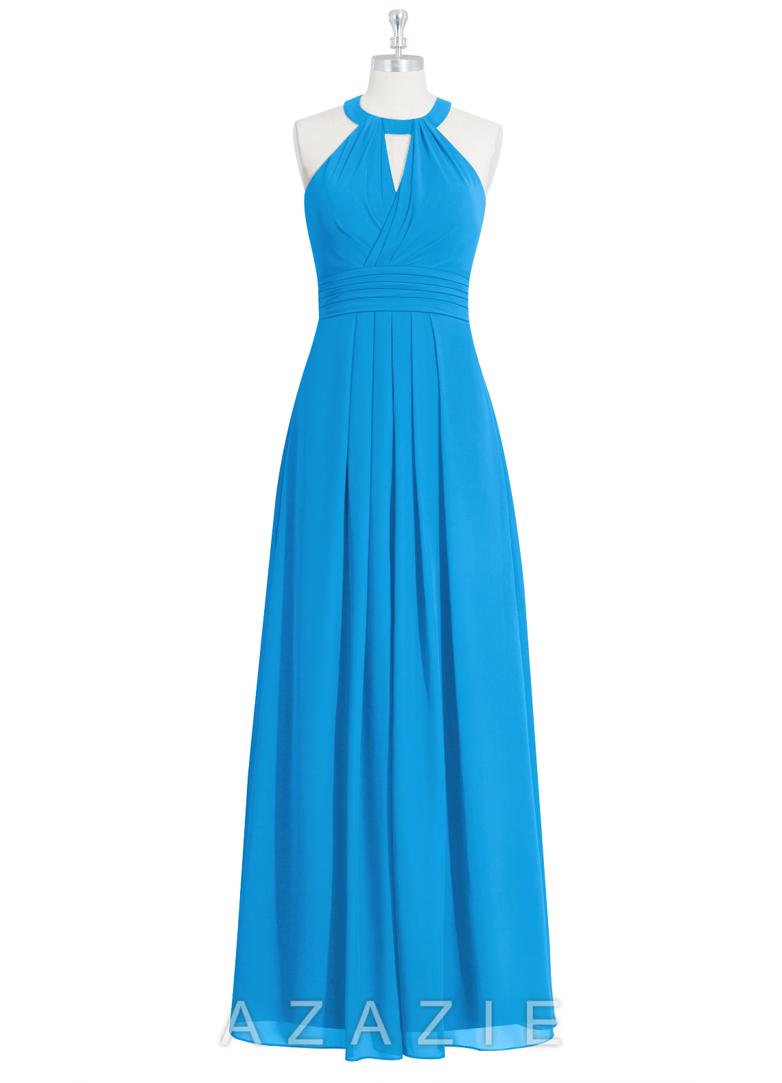Azazie abbey bridesmaid dress azazie for Ocean blue wedding dress